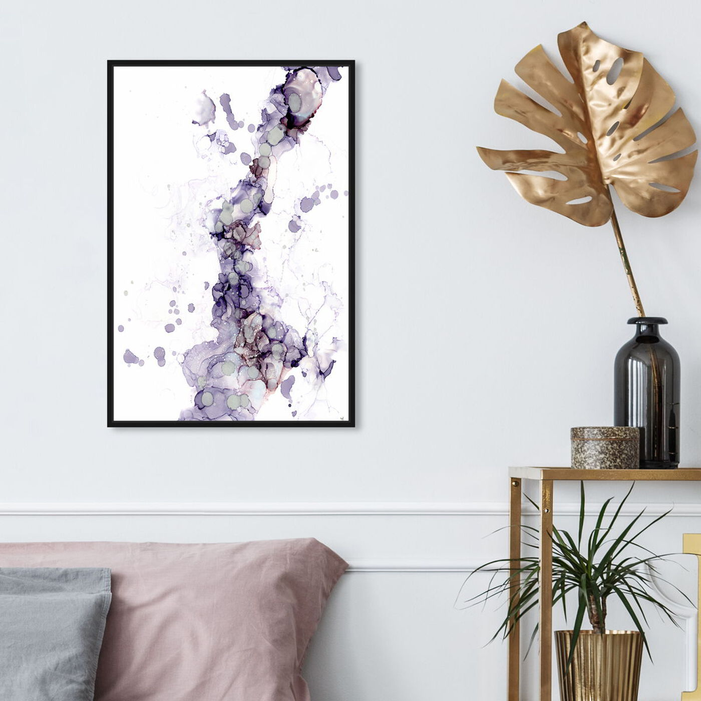 Hanging view of Jamie Blicher - Diana featuring abstract and watercolor art.
