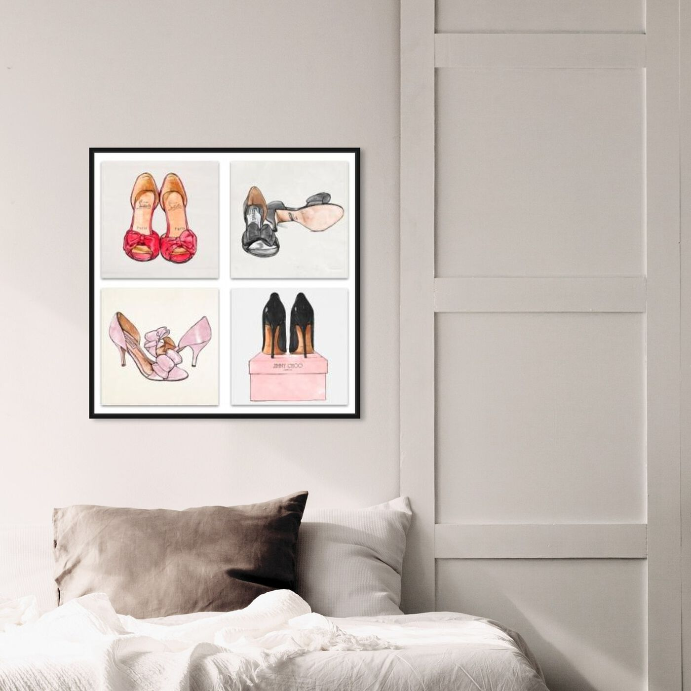 Hanging view of My Shoes - Set of 4 featuring fashion and glam and shoes art.