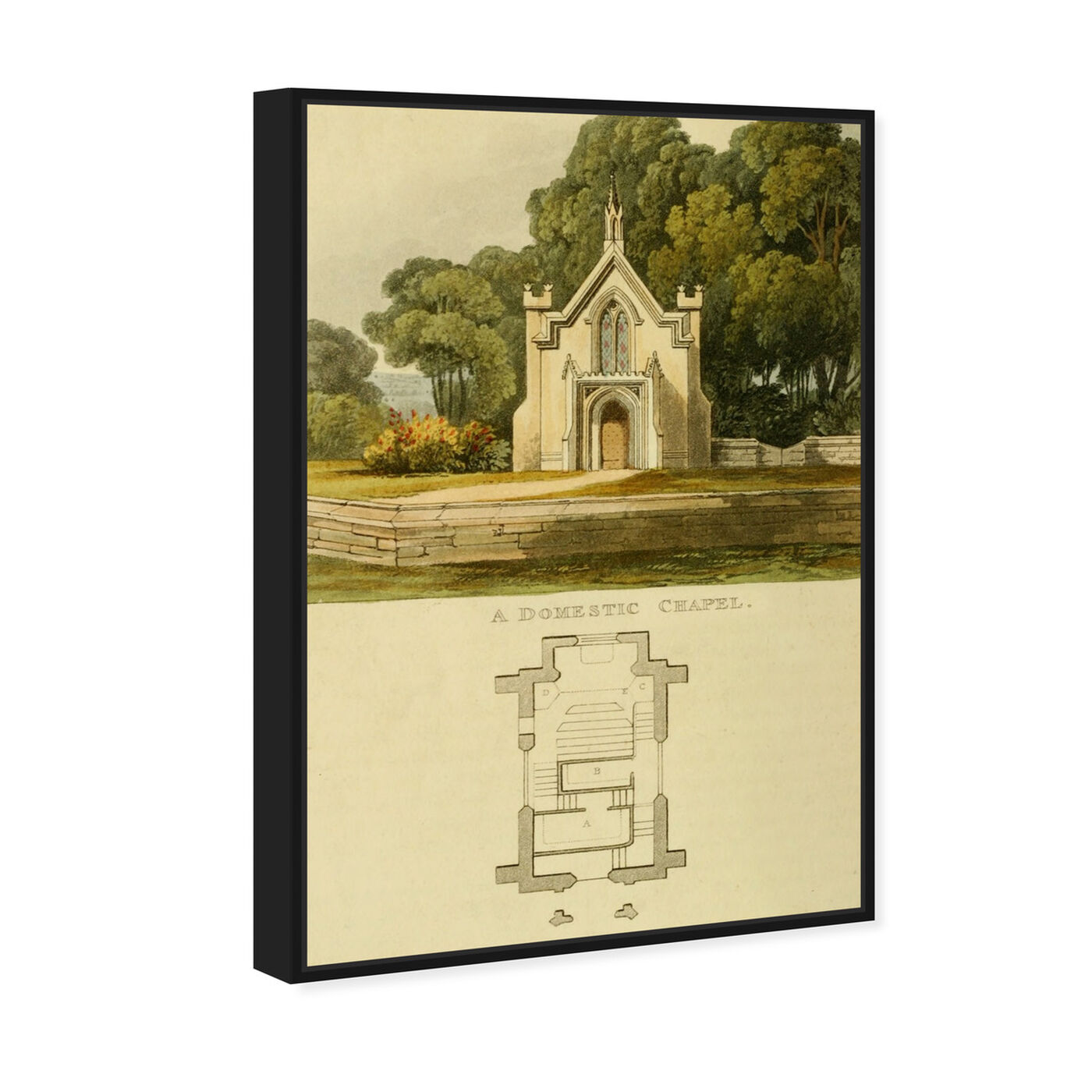 Angled view of Domestic Chapel - The Art Cabinet featuring classic and figurative and classic art.