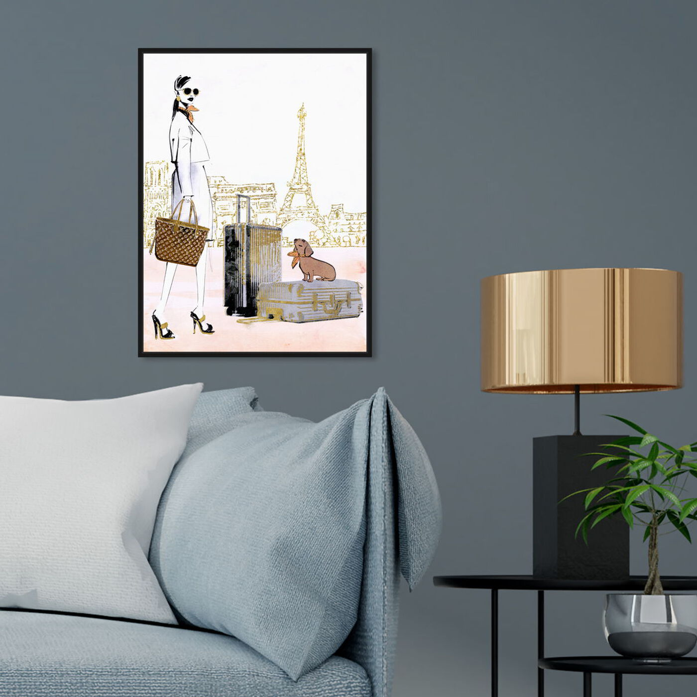 Hanging view of Globetrotter Companion featuring fashion and glam and lifestyle art.