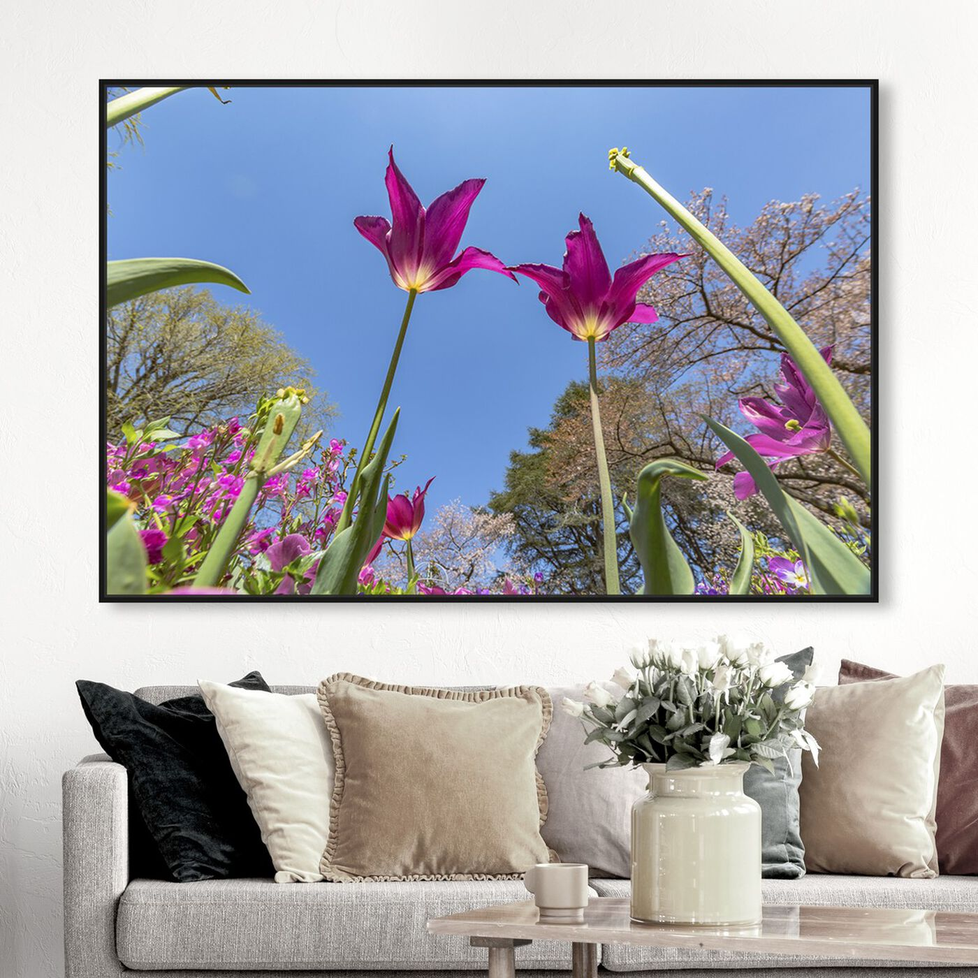 Hanging view of Curro Cardenal - Couple at the Center featuring floral and botanical and florals art.