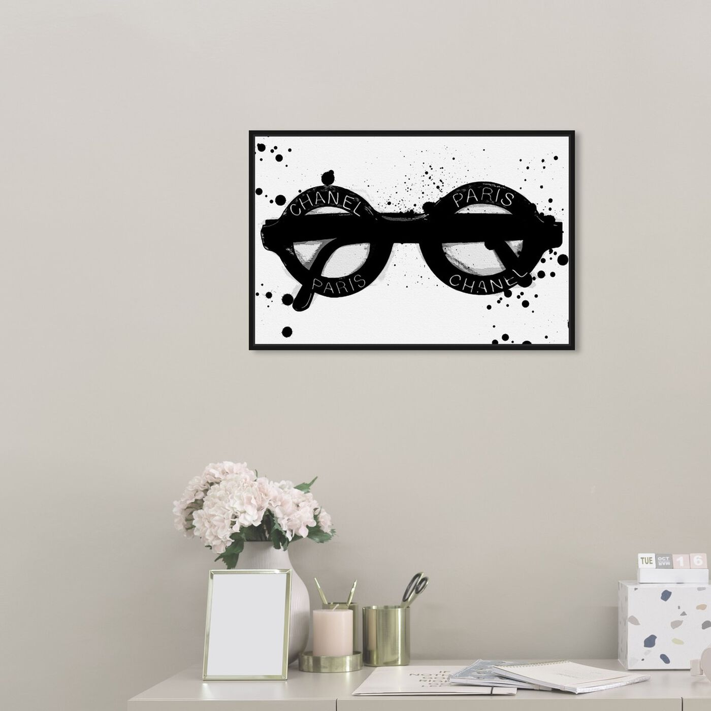 Hanging view of Fashionable Eyes featuring fashion and glam and accessories art.