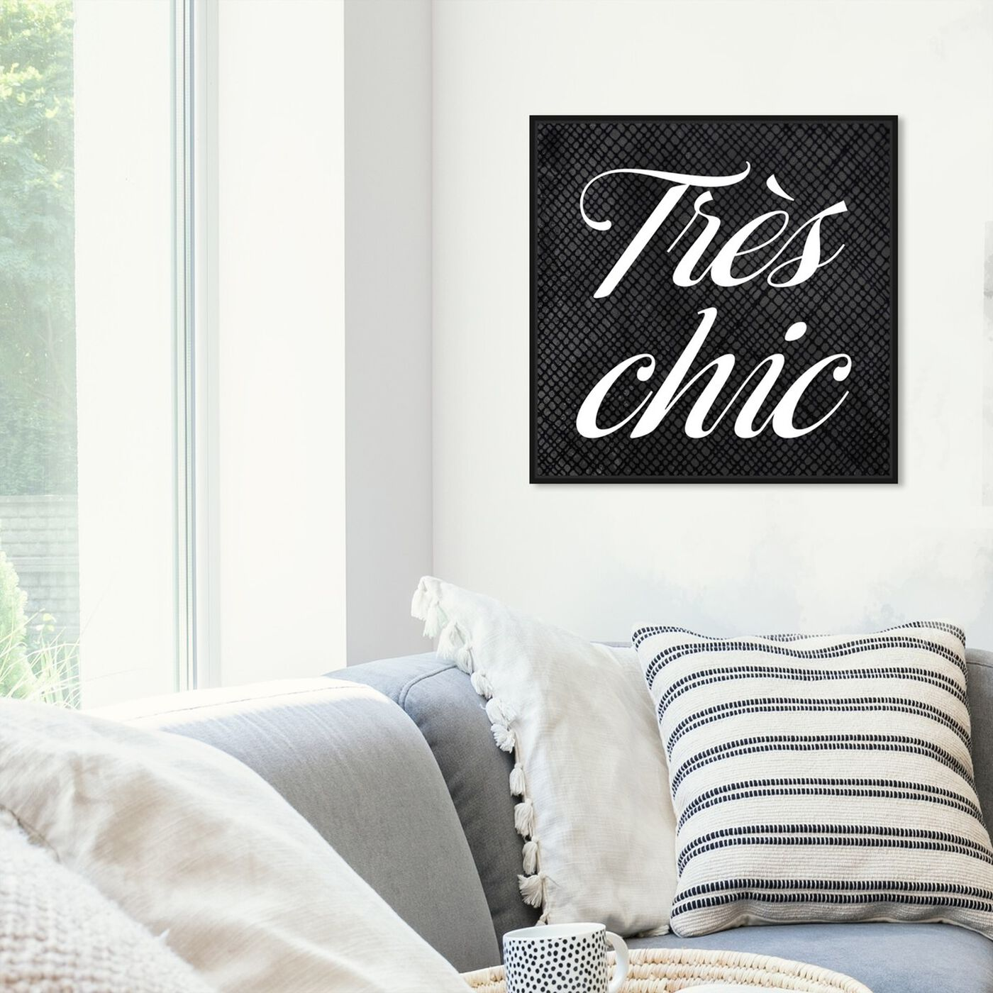 Hanging view of Tres Chic featuring typography and quotes and beauty quotes and sayings art.