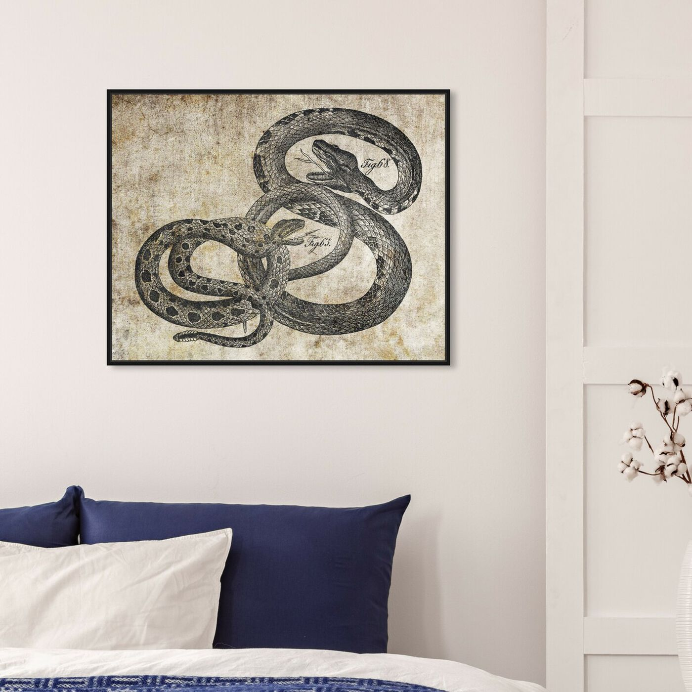 Hanging view of Snakes featuring animals and zoo and wild animals art.