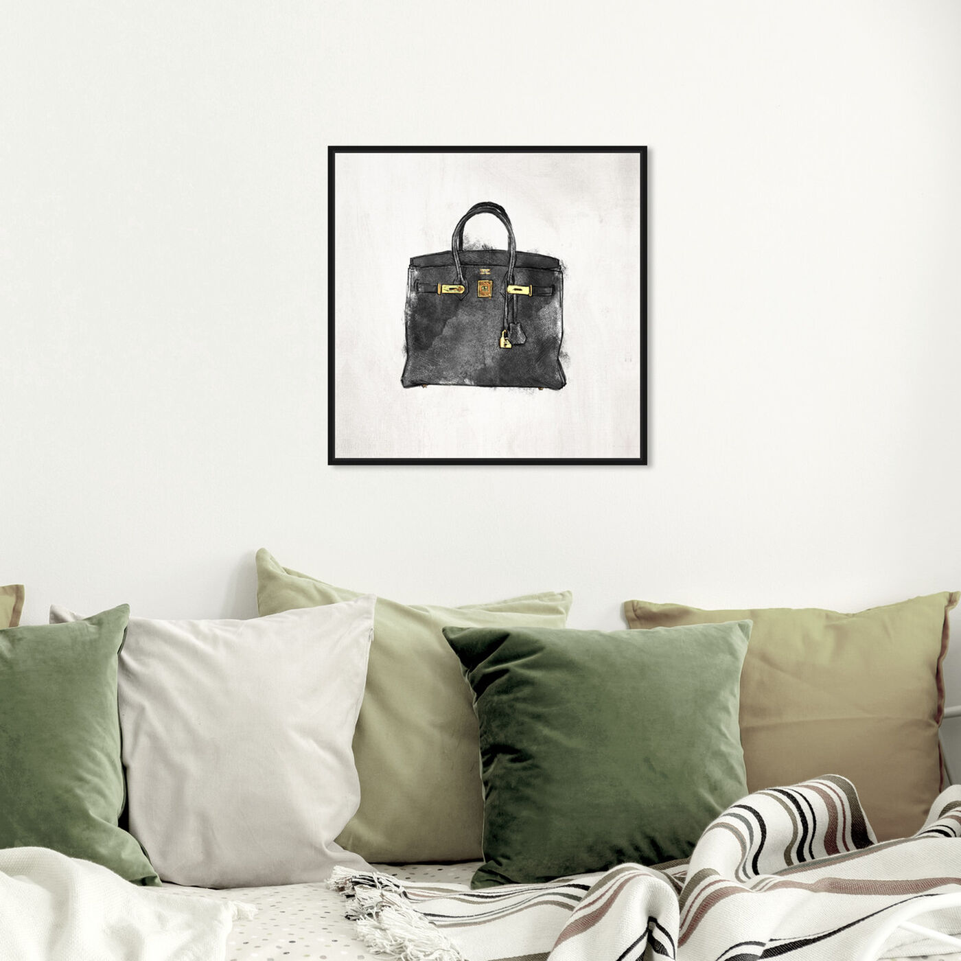 Hanging view of My Lucky Bag Black I featuring fashion and glam and handbags art.