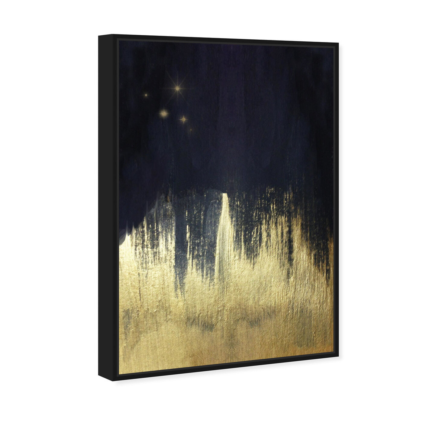 Angled view of Starry Night featuring abstract and paint art.