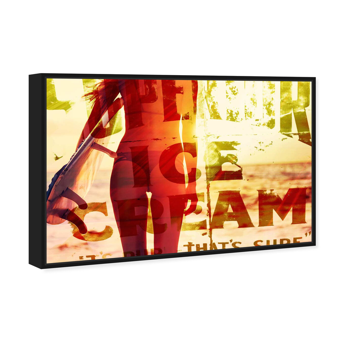 Angled view of Superior Ice Cream -Touch Of Modern featuring advertising and promotional brands art.