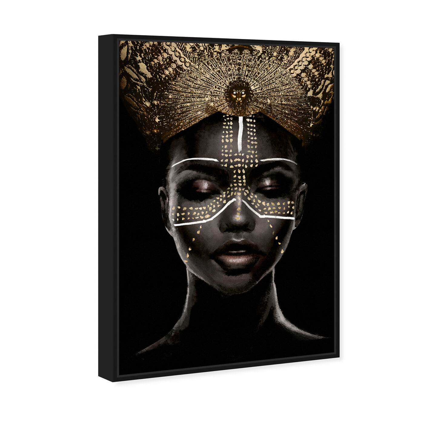 Angled view of Queenly Reign of Gold II featuring fashion and glam and portraits art.