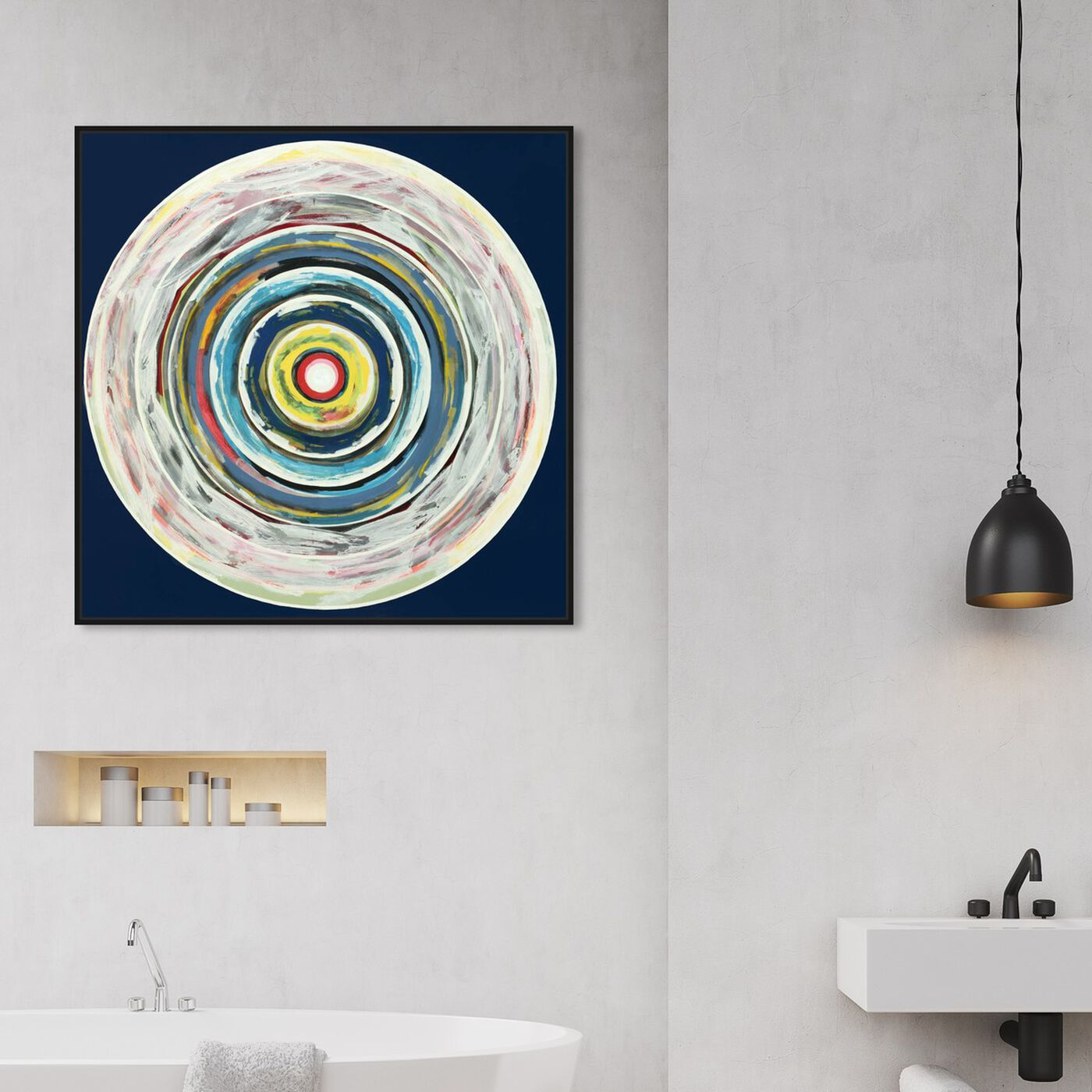 Hanging view of Sai - Pictis Spiralis 1NM1138 featuring abstract and paint art.