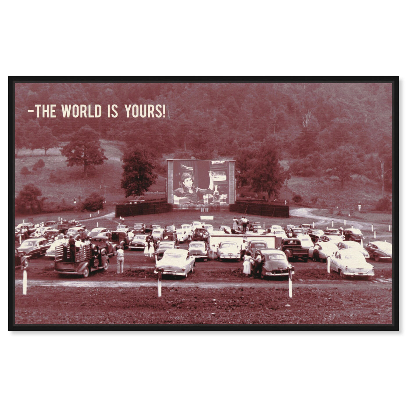 Front view of The World is Yours featuring entertainment and hobbies and theater art.