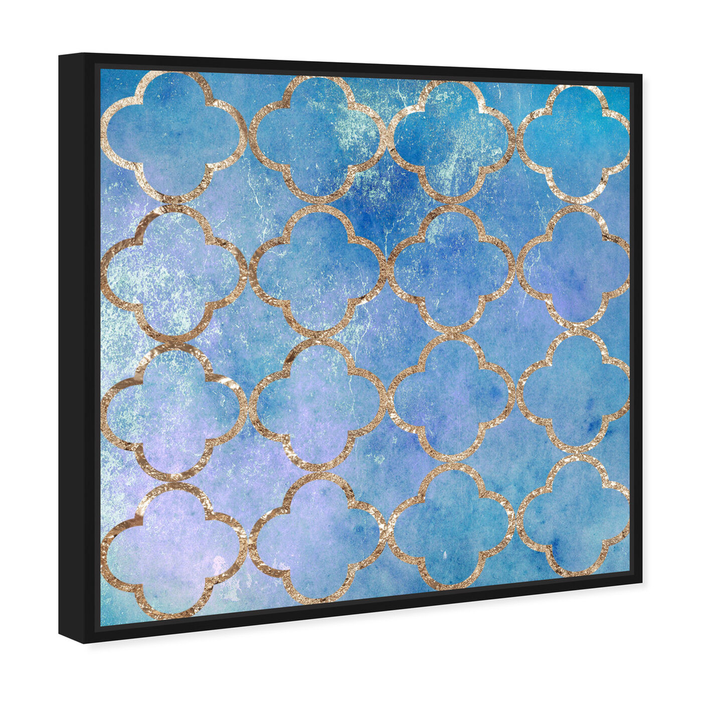 Angled view of Volare Blu featuring abstract and patterns art.