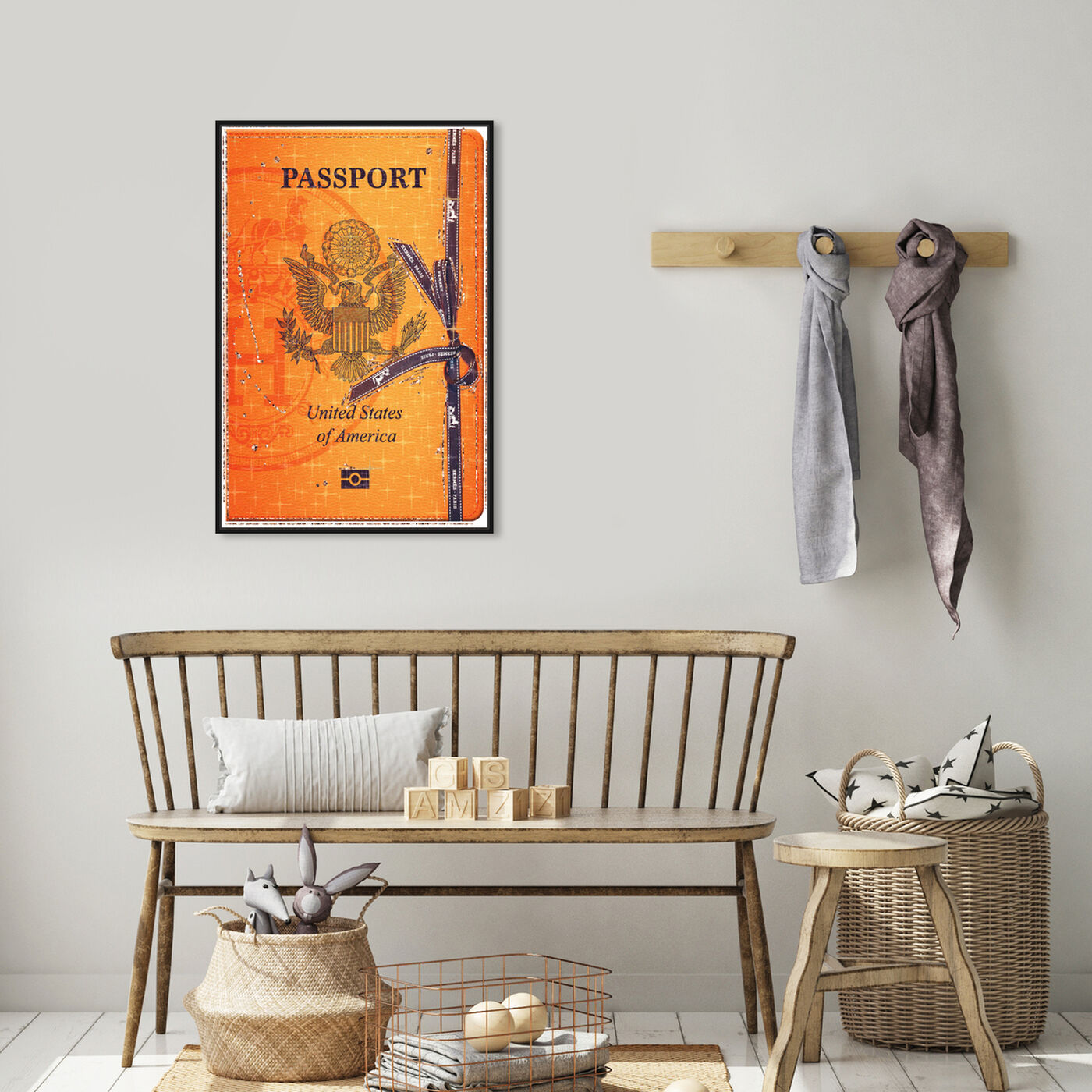 Hanging view of French Passport featuring fashion and glam and travel essentials art.