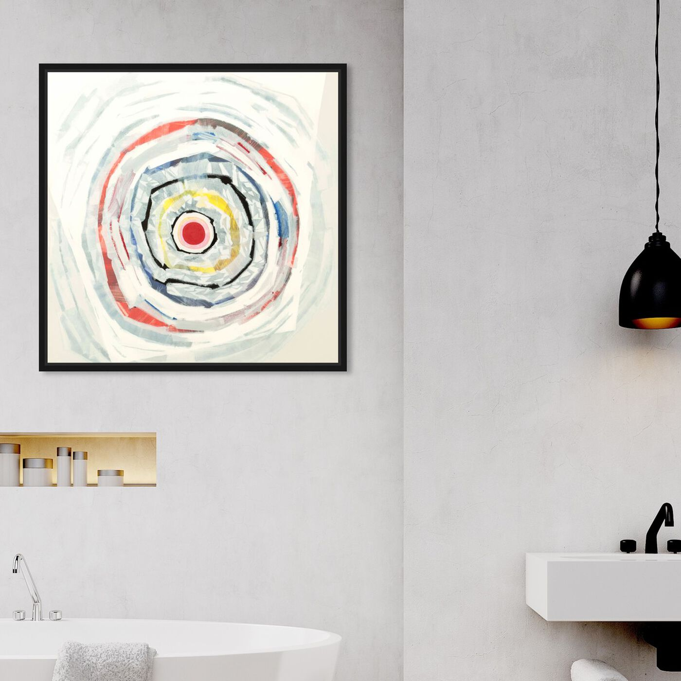 Hanging view of Sai - Pictis Spiralis Blanc 1NM1141 featuring abstract and patterns art.