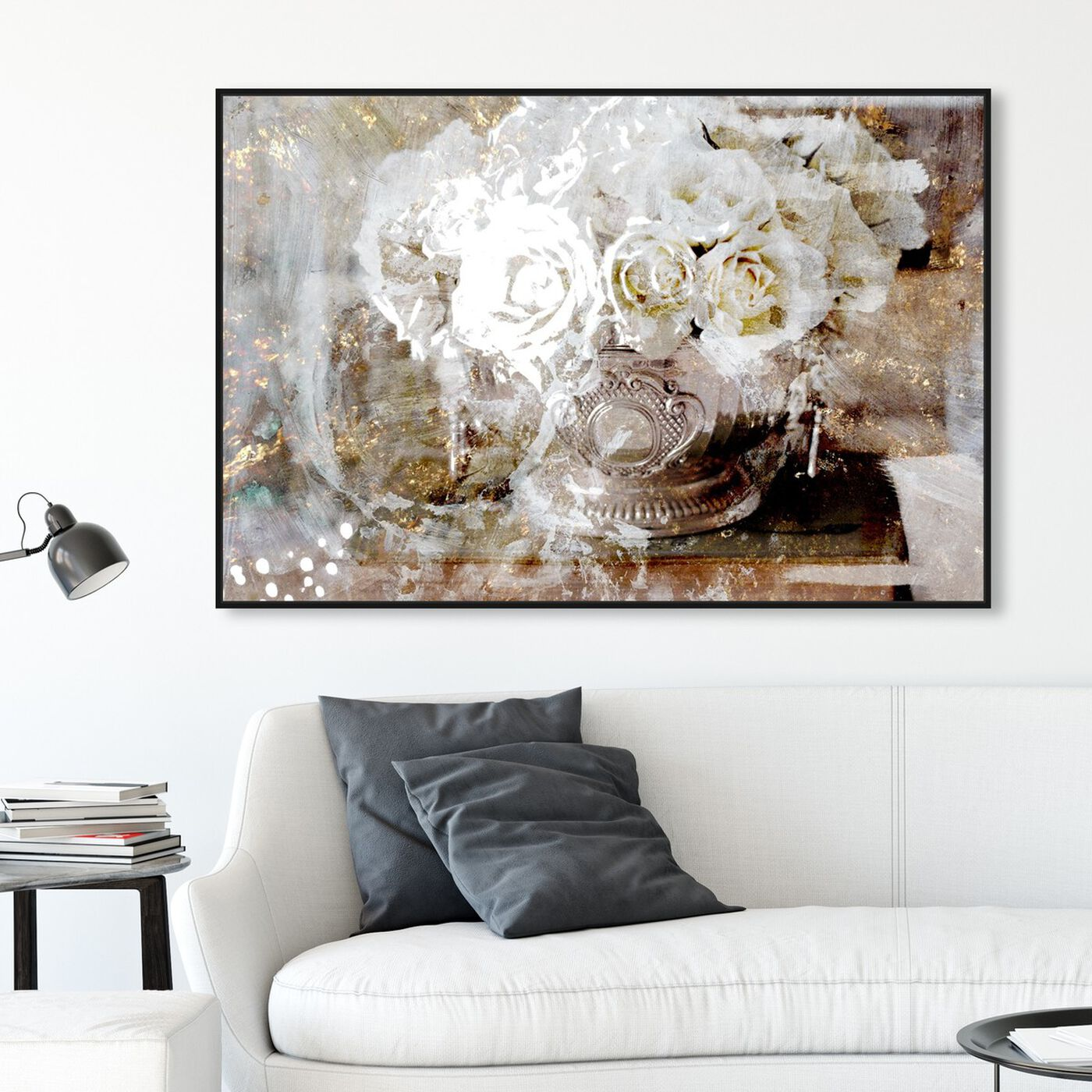 Hanging view of Serving Roses featuring floral and botanical and florals art.