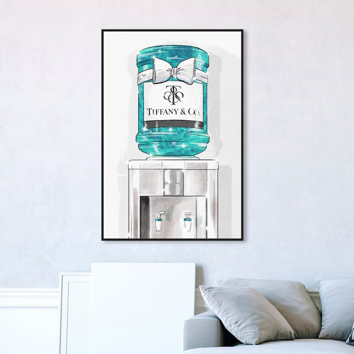 Hanging view of Jeweled Watercooler featuring fashion and glam and lifestyle art.