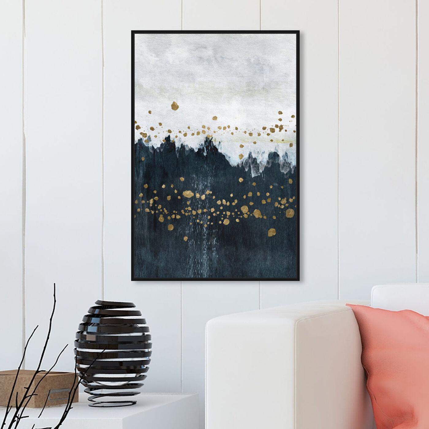 Hanging view of Cool River Flow featuring abstract and paint art.