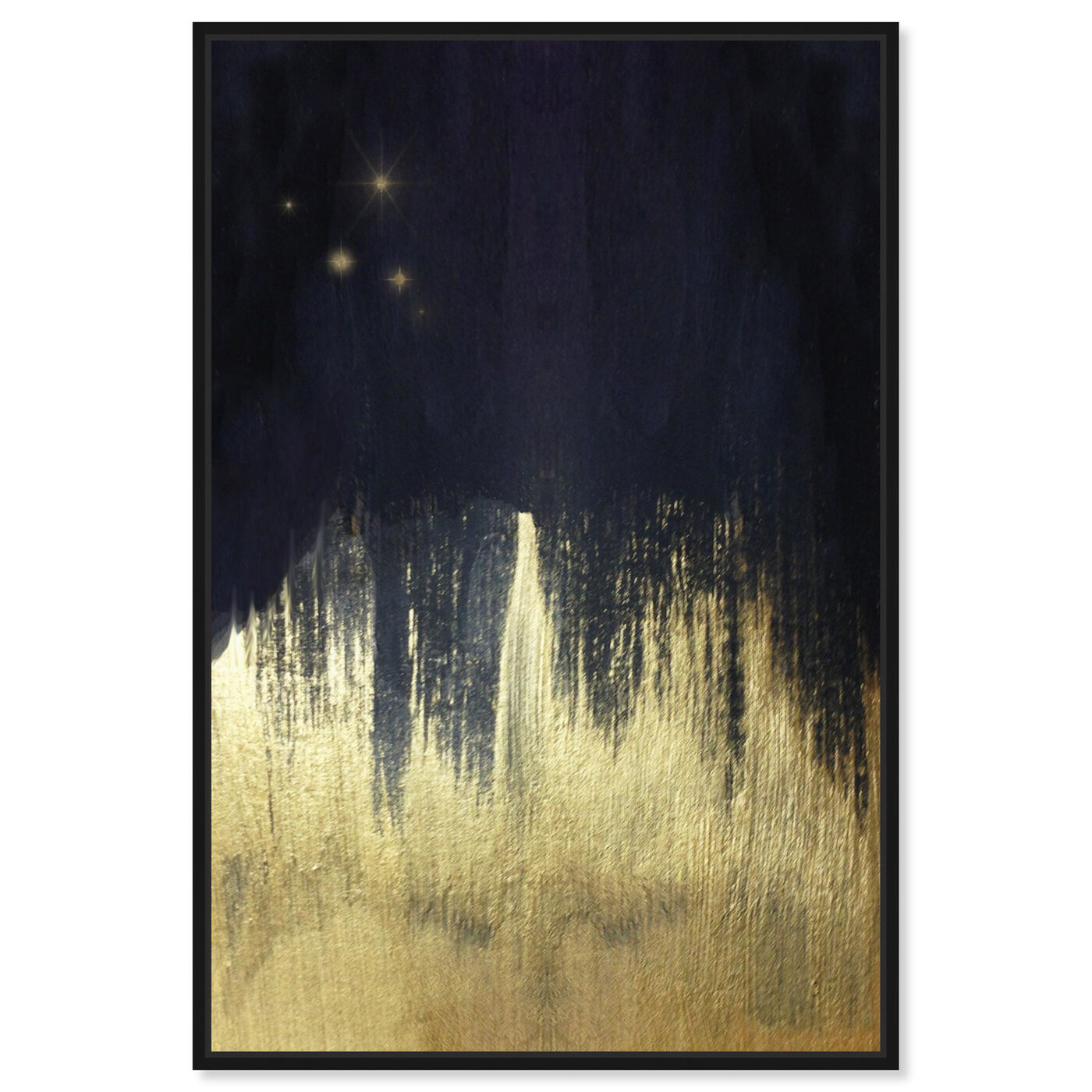 Front view of Starry Night featuring abstract and paint art.