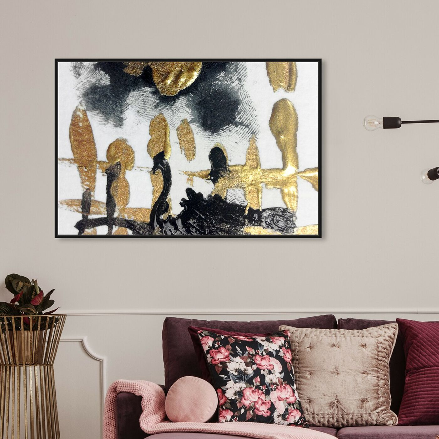 Hanging view of Nozze di Figaro - Signature Collection featuring abstract and paint art.