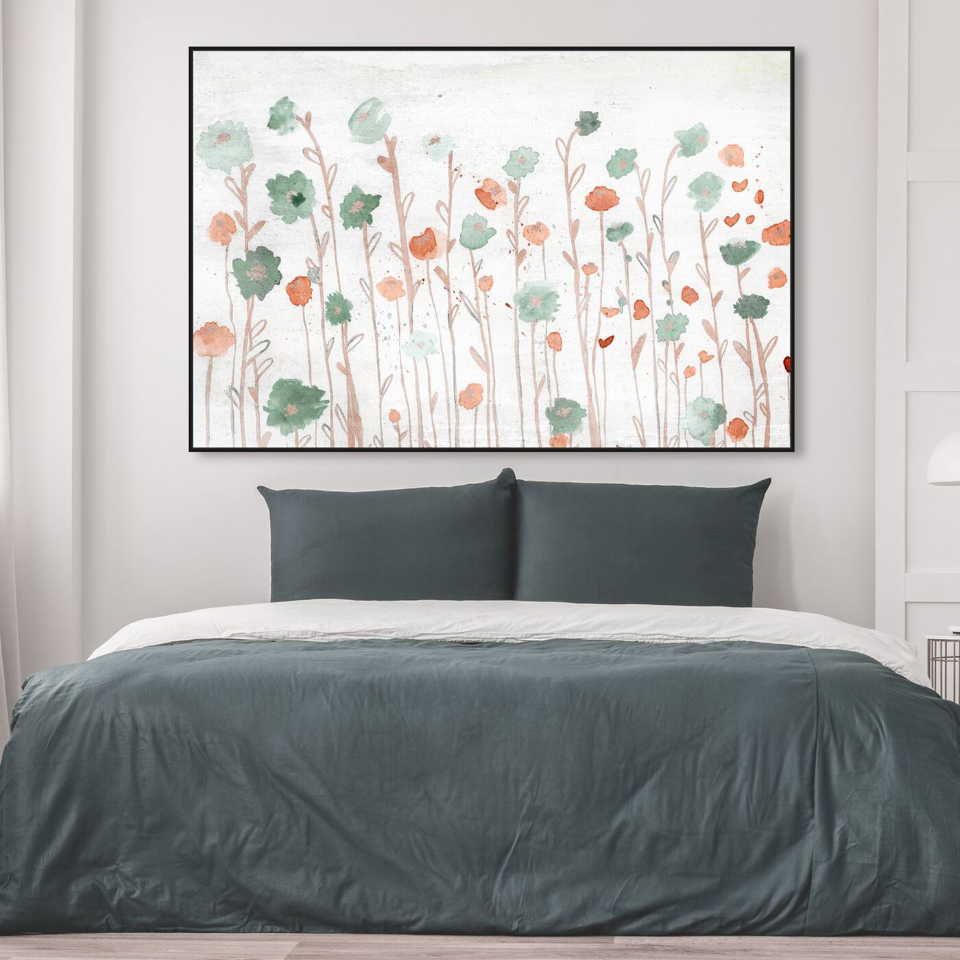 Hanging view of Beautiful Growth Orange featuring floral and botanical and florals art.
