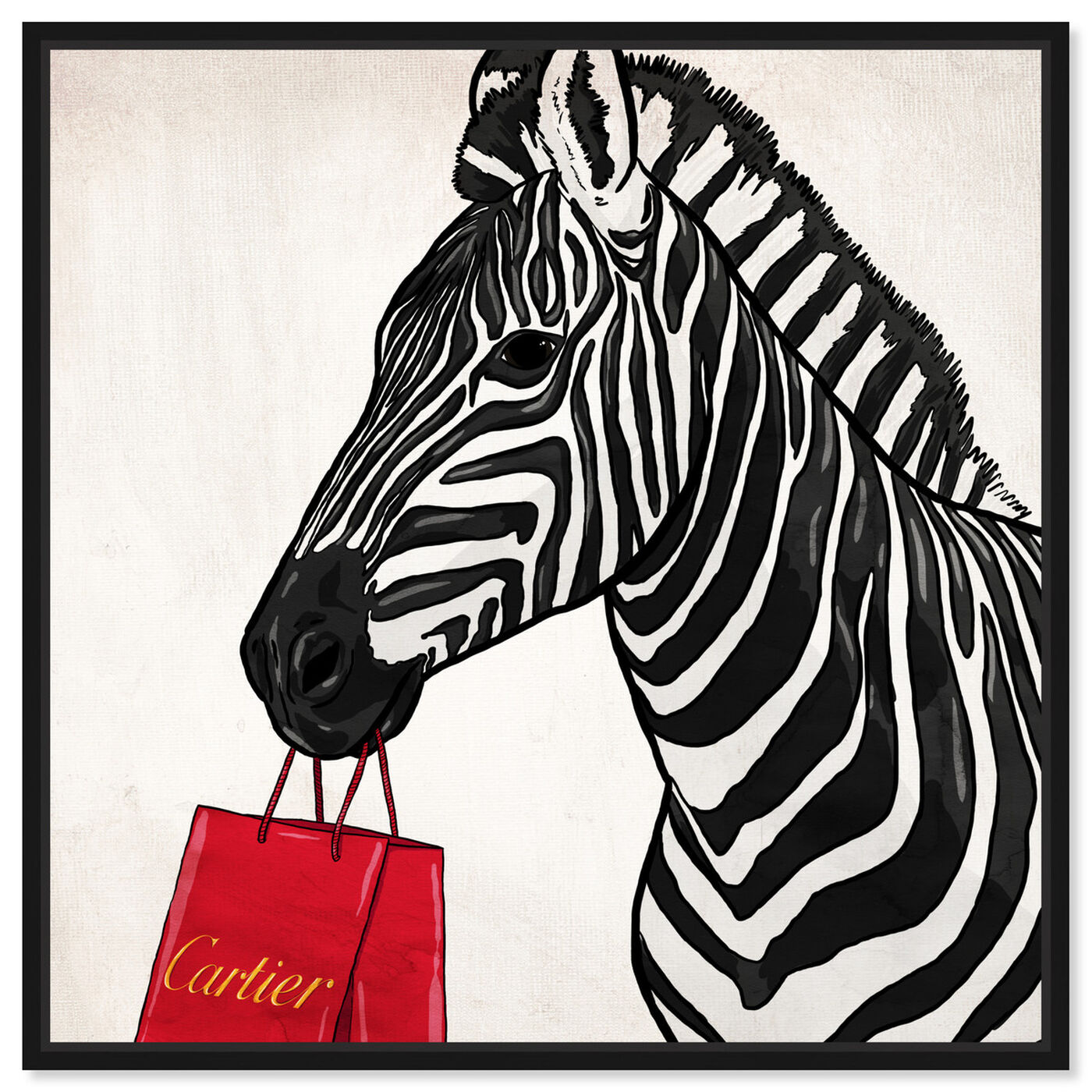 Front view of Expensive Zebra featuring fashion and glam and fashion art.