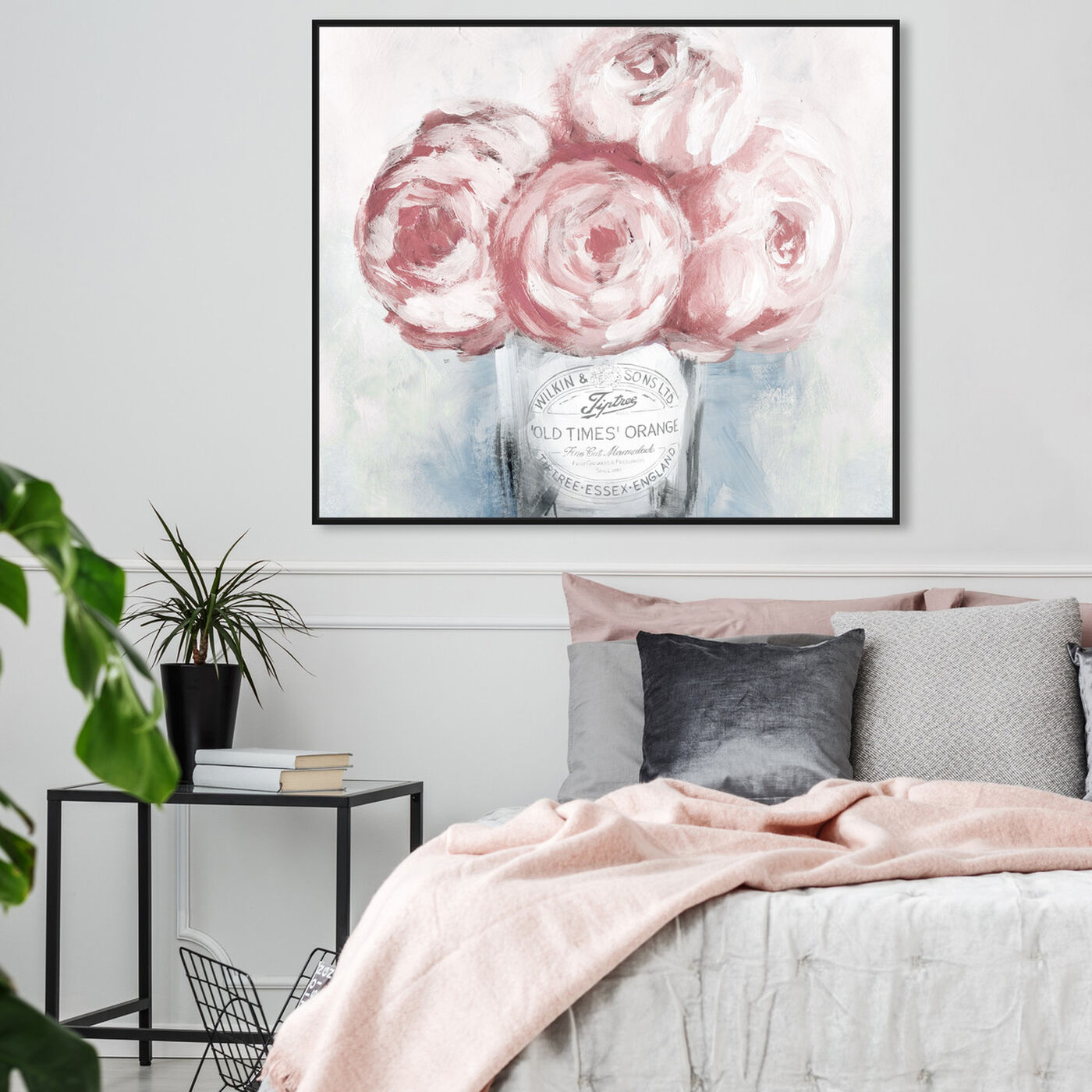 Hanging view of Peony Jam featuring floral and botanical and florals art.