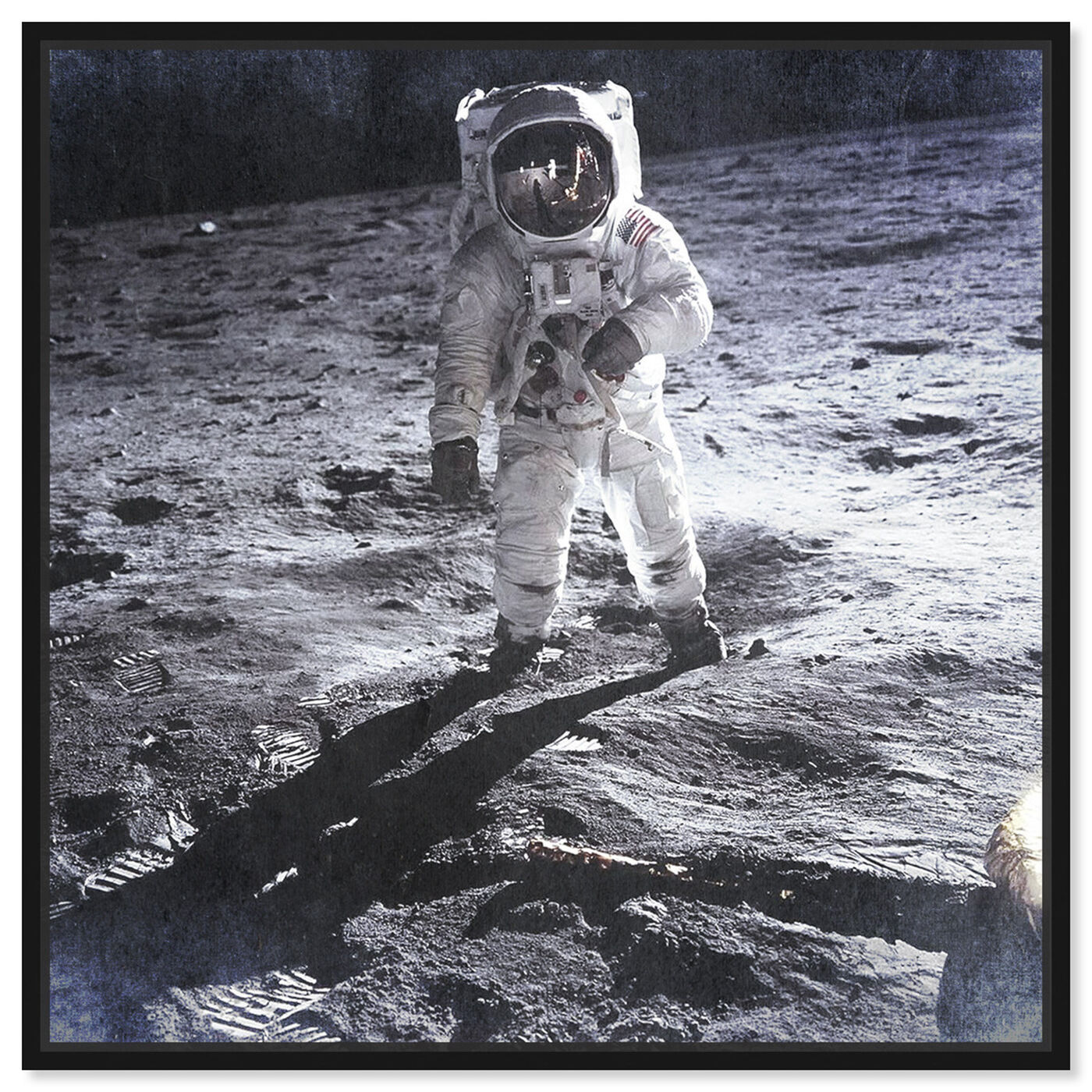 Front view of Man on the Moon featuring people and portraits and professions art.
