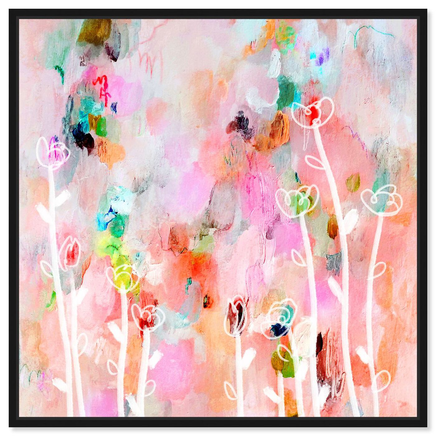 Front view of Aurora Flowers featuring abstract and flowers art.