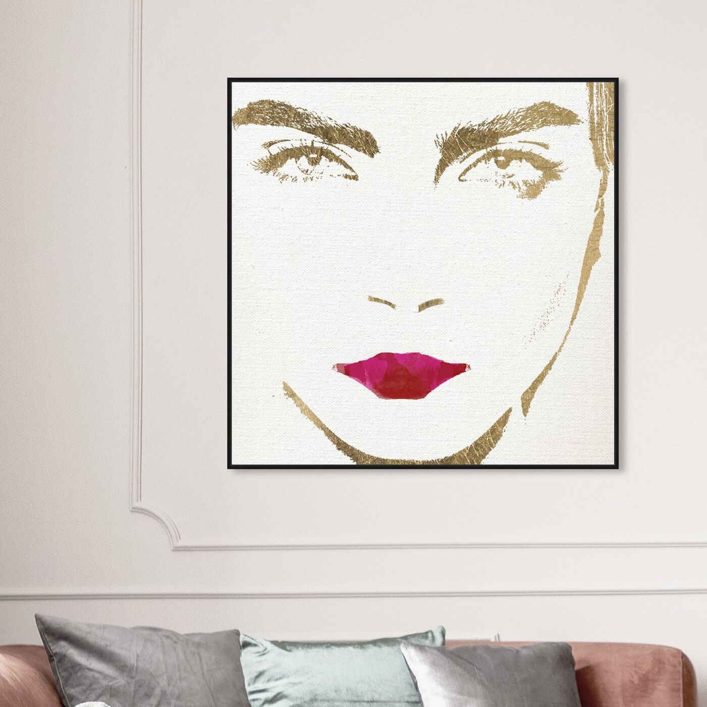 Hanging view of Querida  II featuring people and portraits and celebrities art.