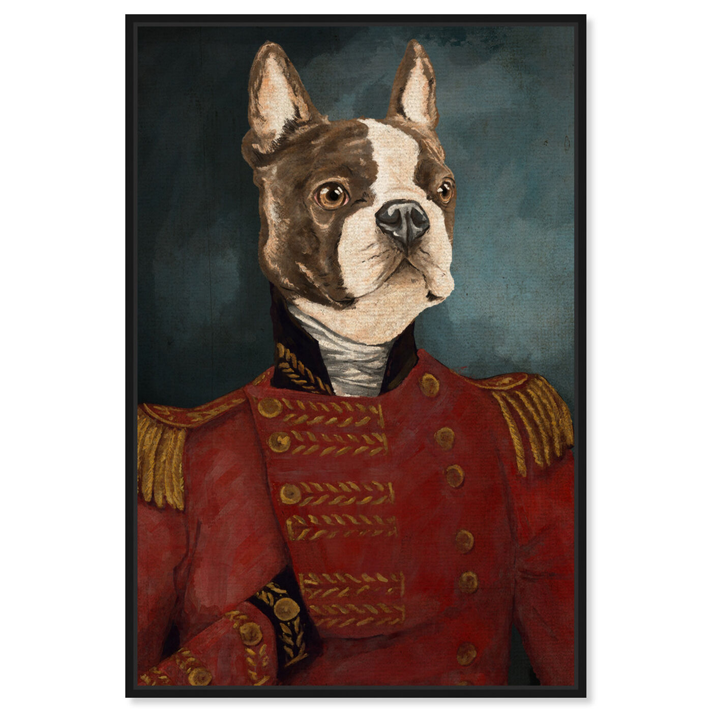 Front view of Dapper Terrier featuring animals and dogs and puppies art.
