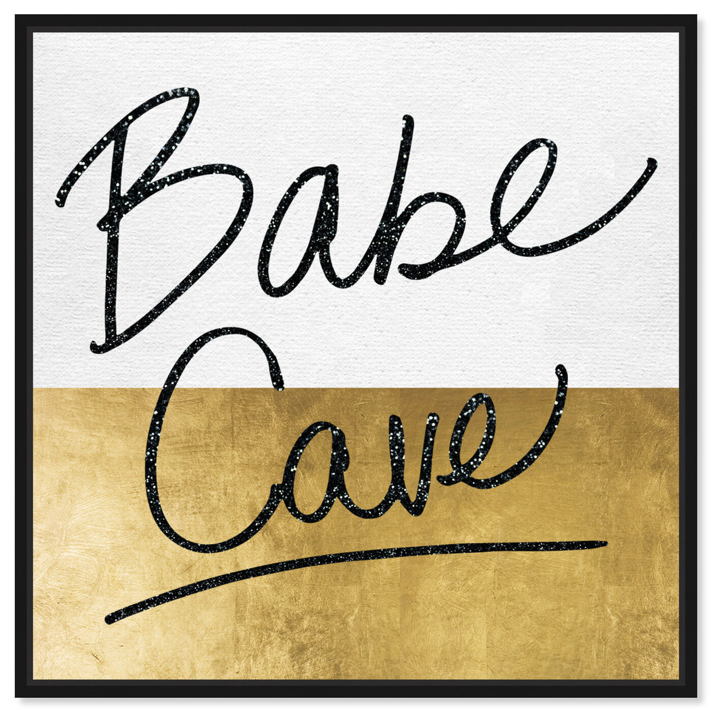 Front view of Babe Cave featuring typography and quotes and empowered women quotes and sayings art.