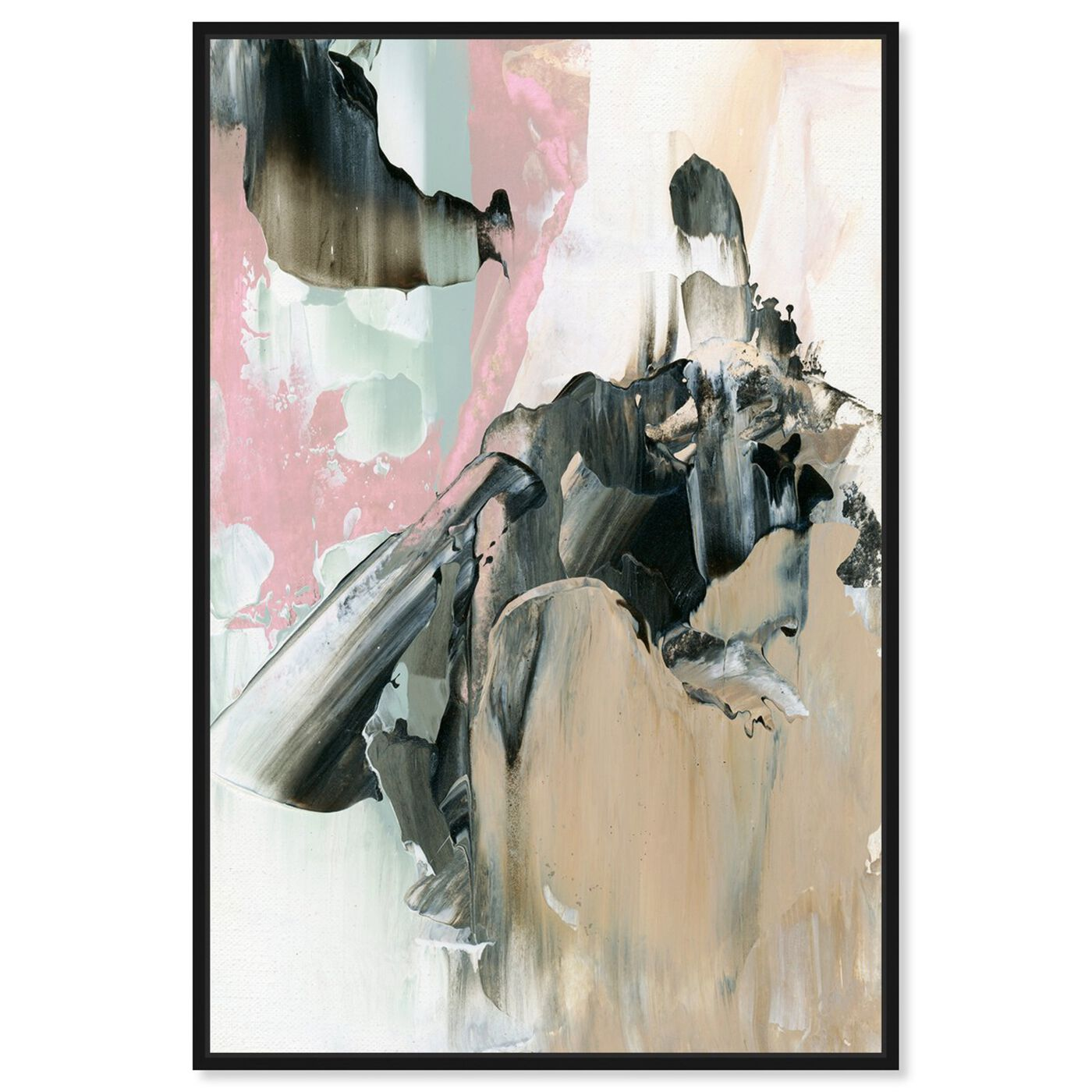 Front view of Pink And Greys featuring abstract and paint art.