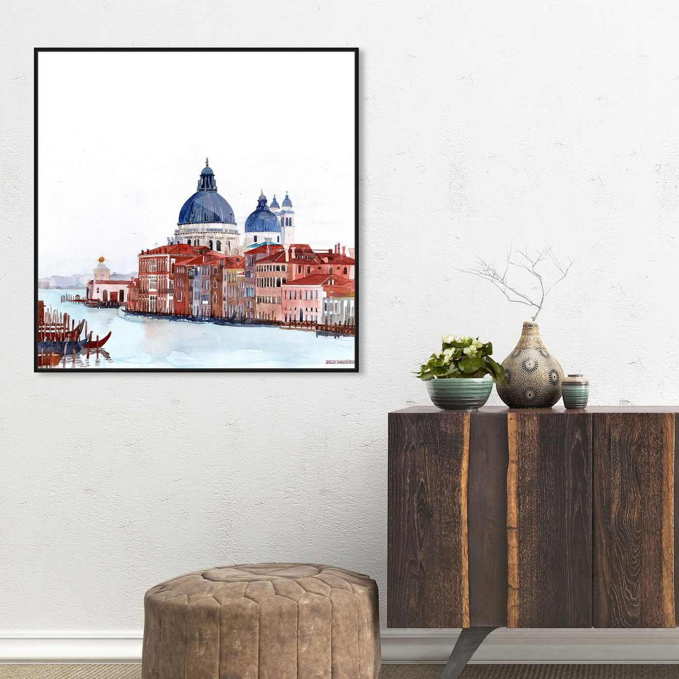 Hanging view of Maja Wronska - Waterfront Vista Clear featuring cities and skylines and world cities art.