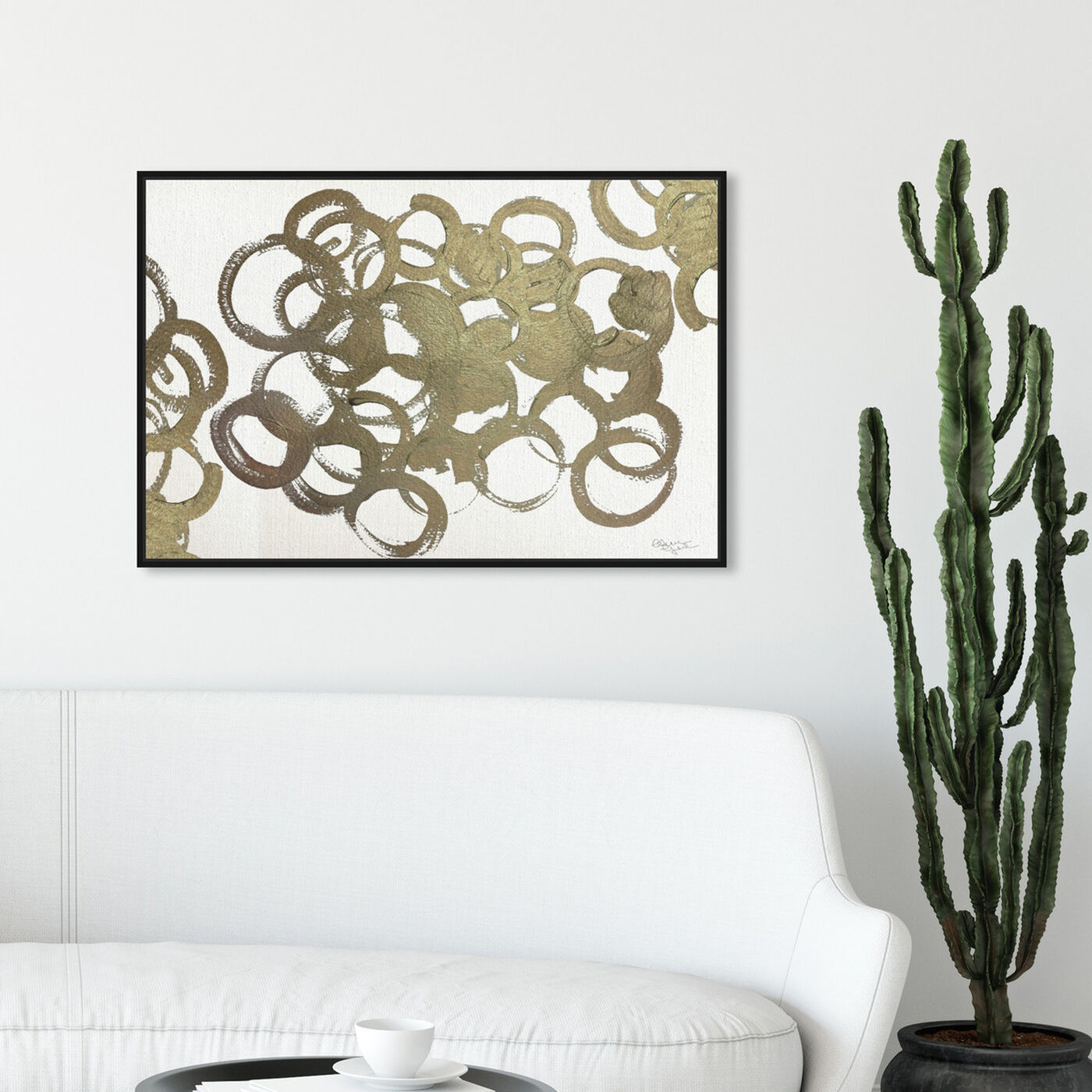 Hanging view of De Gala featuring abstract and shapes art.