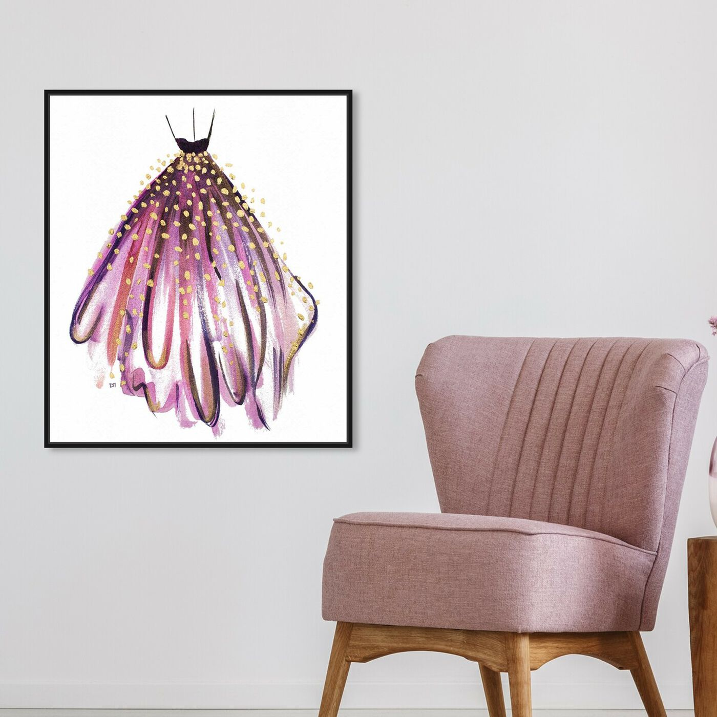 Hanging view of Purple Magic featuring fashion and glam and dress art.