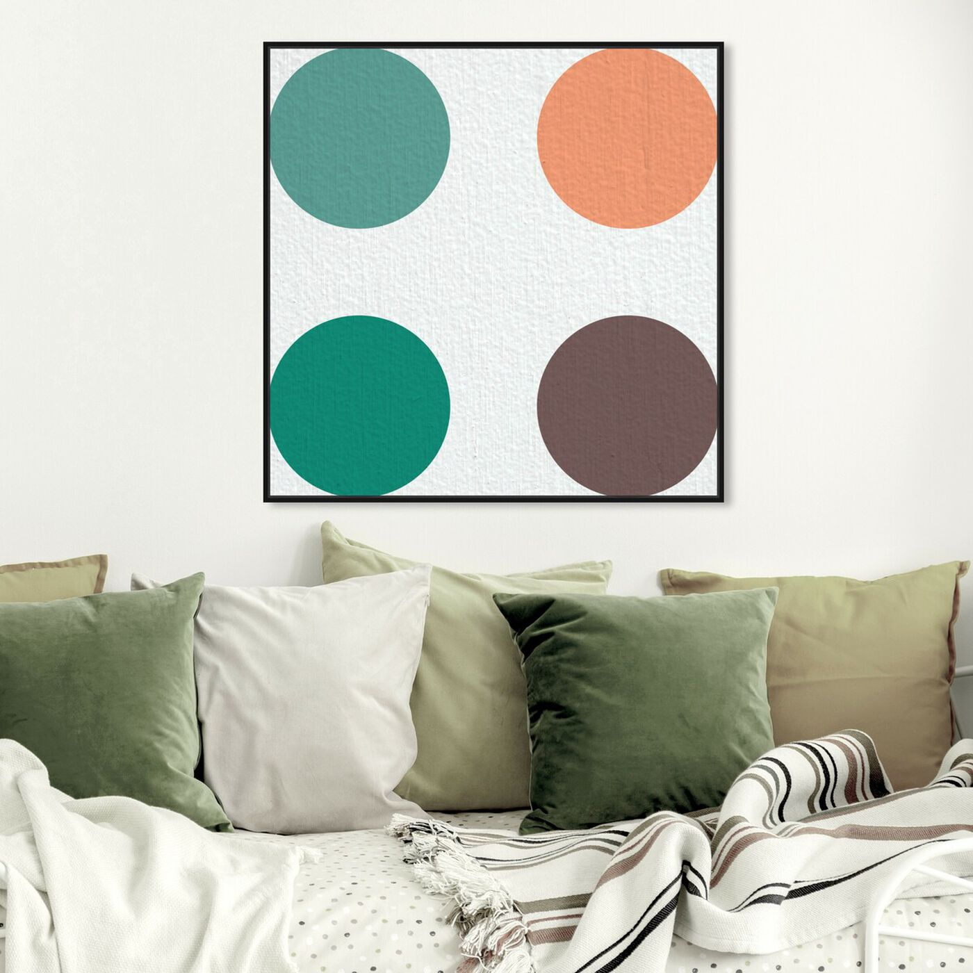 Hanging view of Punto Dos featuring abstract and geometric art.