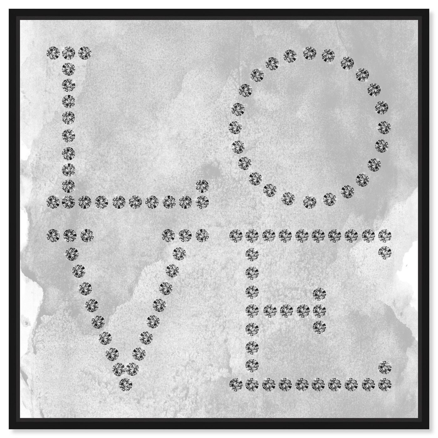 Front view of Love Diamonds featuring typography and quotes and love quotes and sayings art.