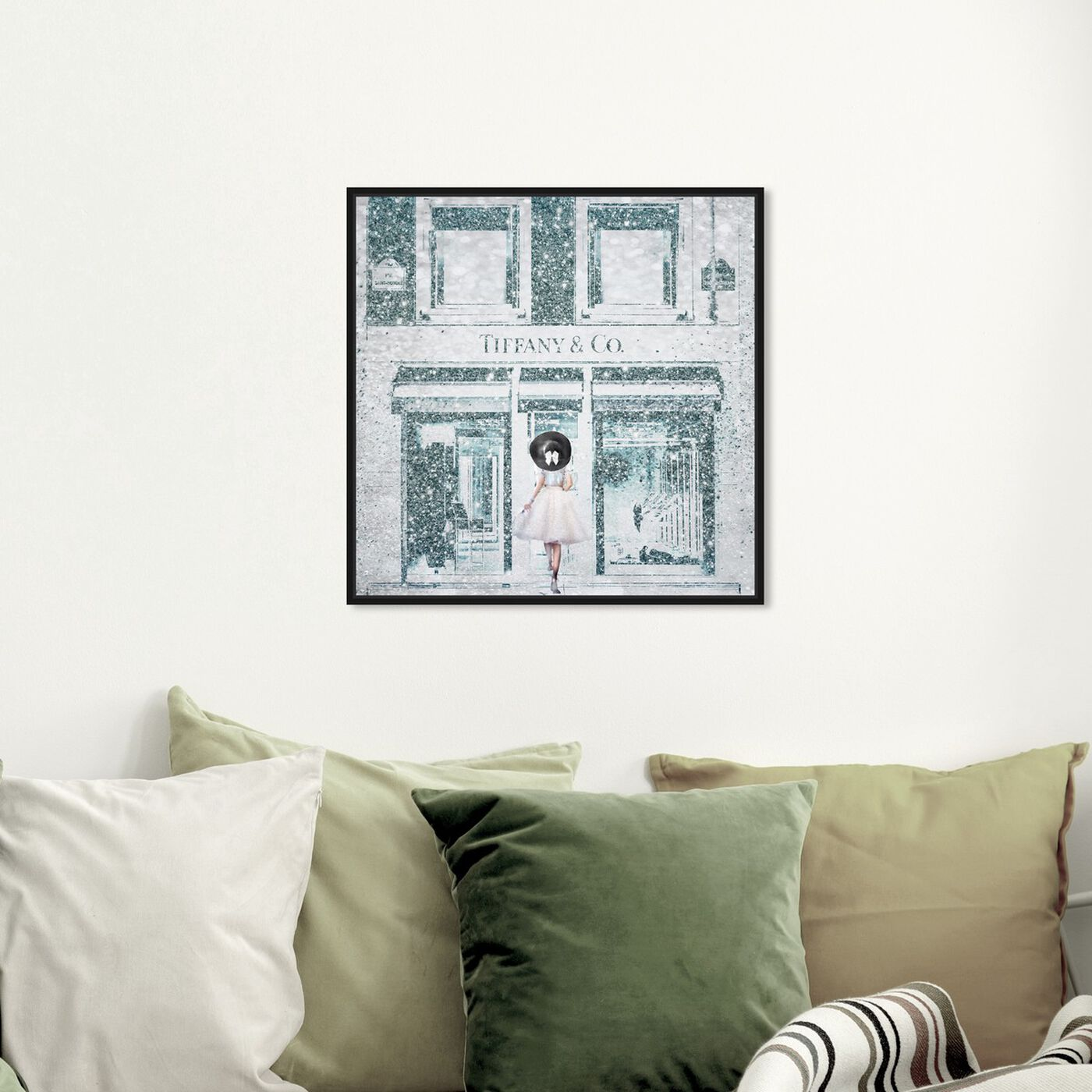 Hanging view of Queen of the Store Aqua featuring fashion and glam and road signs art.