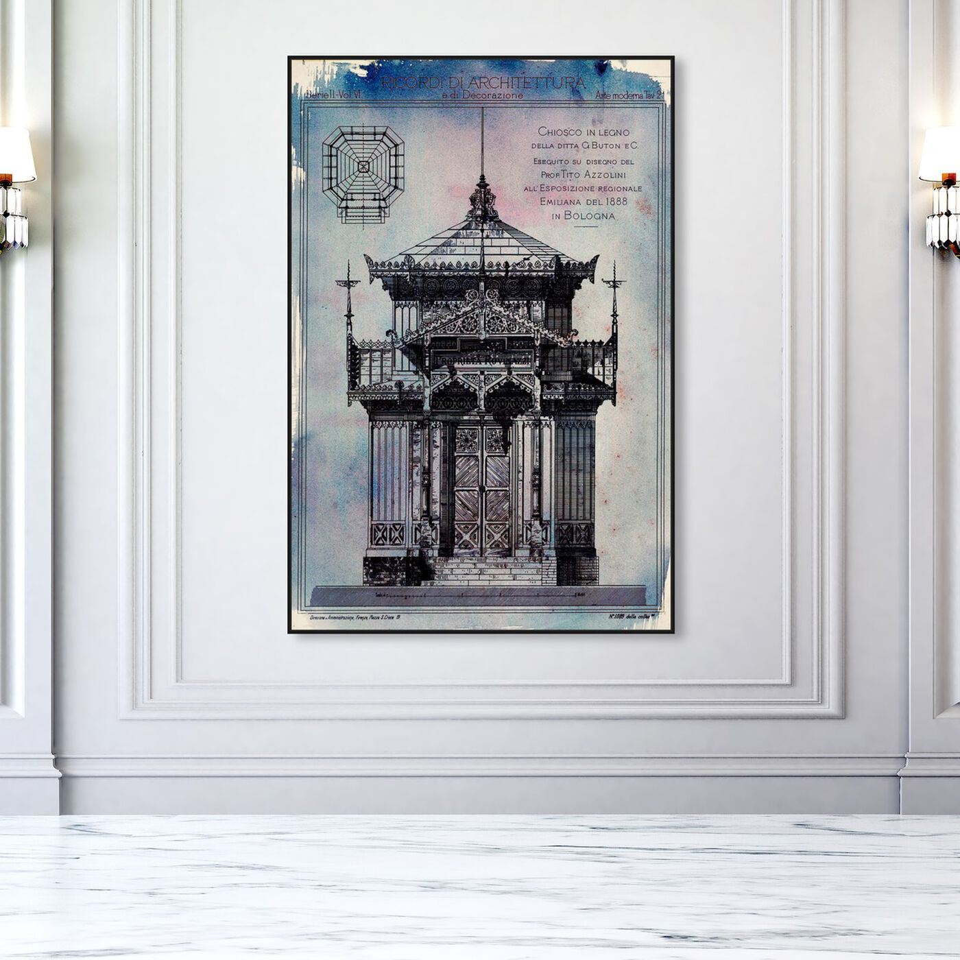 Hanging view of Chiosco in Legno featuring world and countries and asian cultures art.