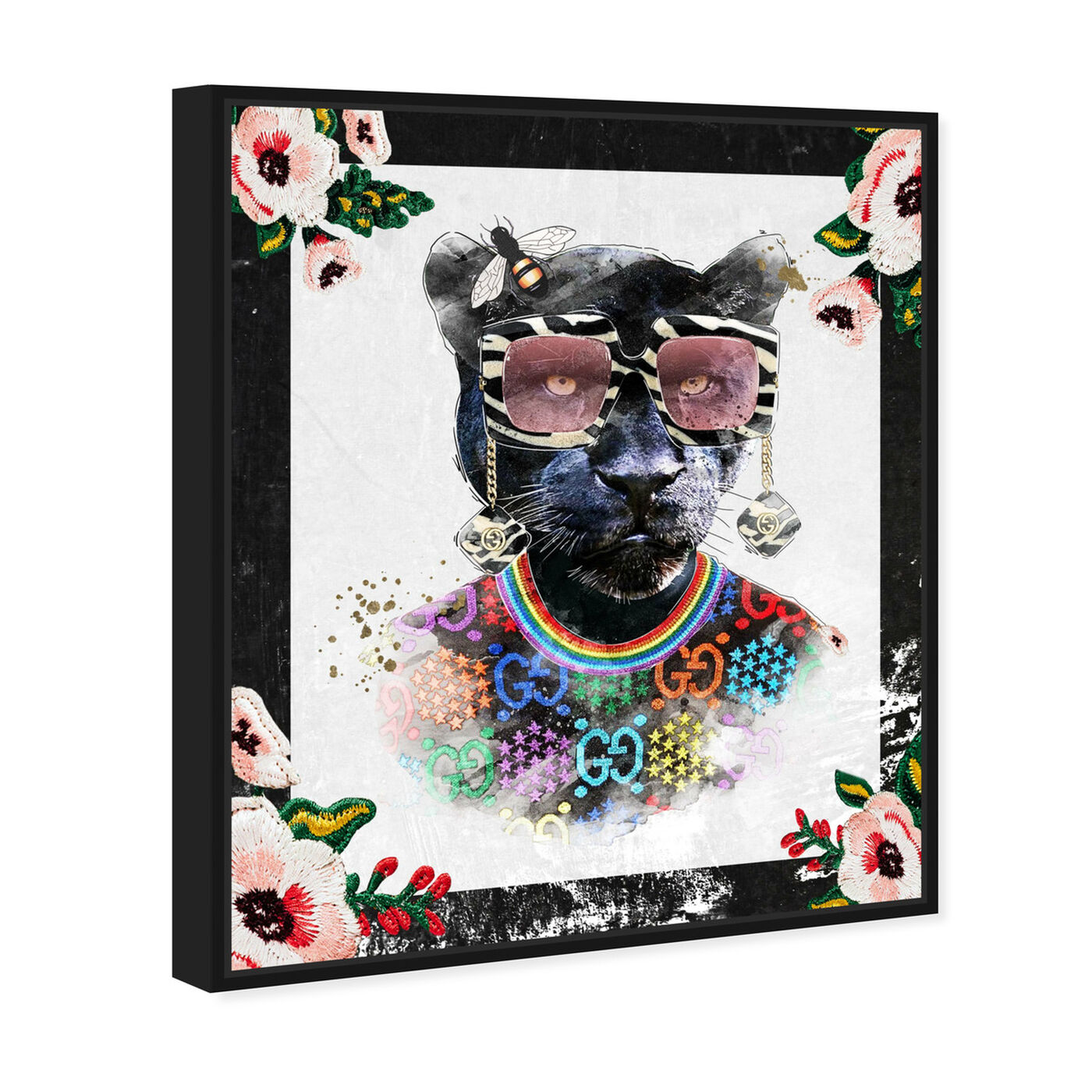 Angled view of Luxe Mama Portrait featuring animals and zoo and wild animals art.