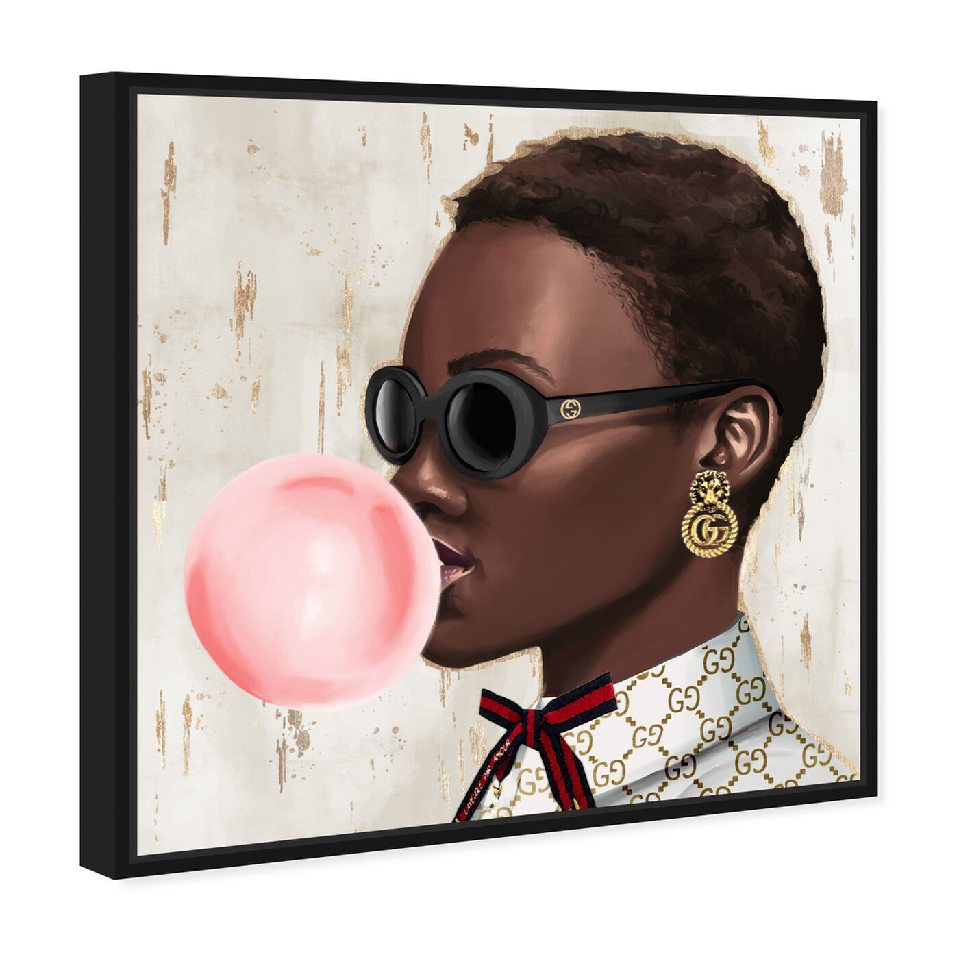 Angled view of Bubble Gum Babe featuring fashion and glam and accessories art.