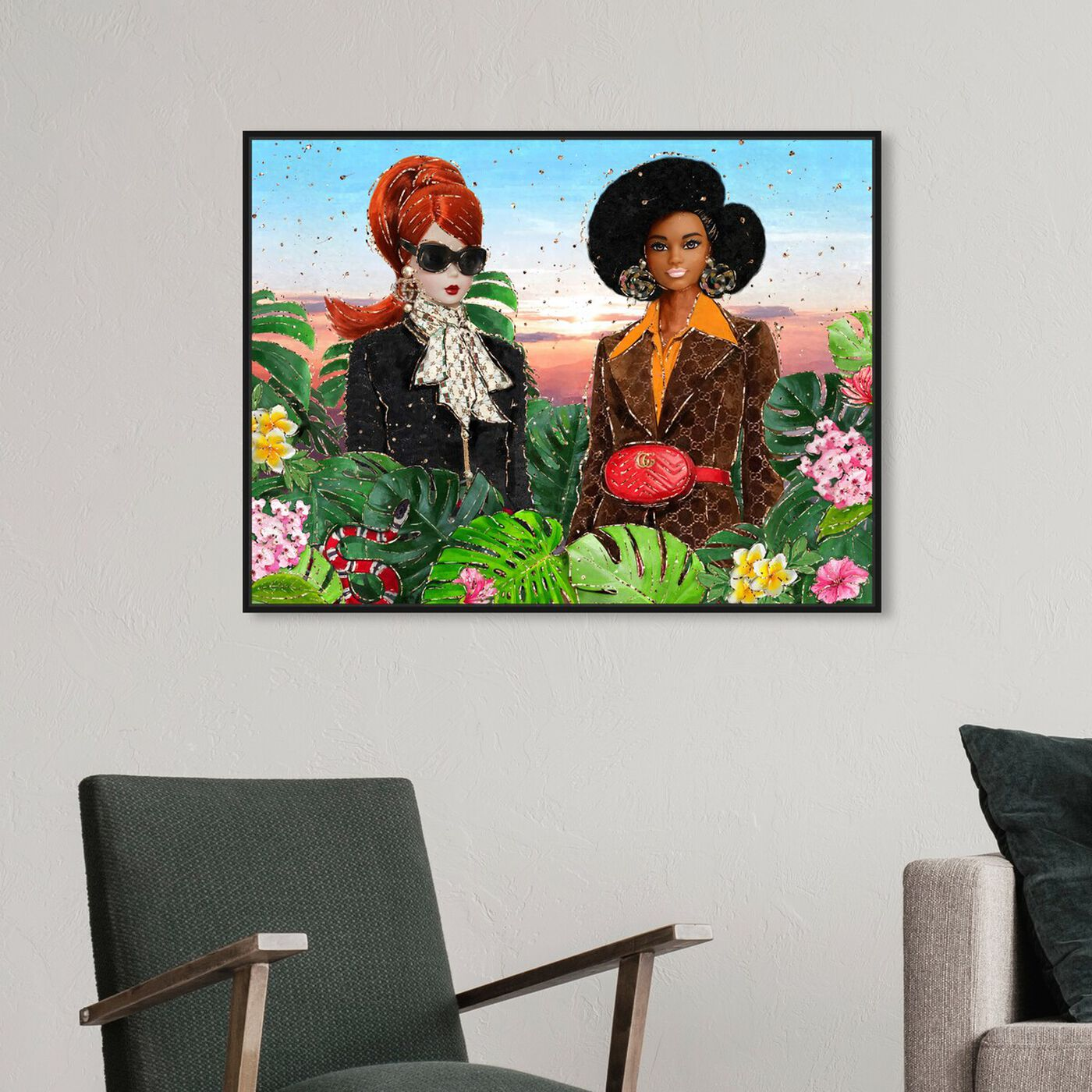 Hanging view of We Out Here featuring fashion and glam and dolls art.