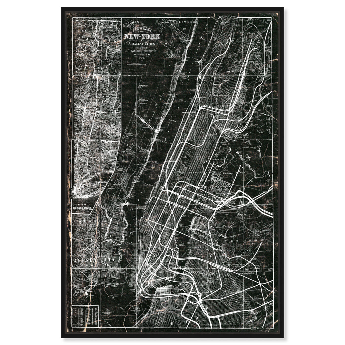 Front view of NY Subway Map featuring maps and flags and us cities maps art.