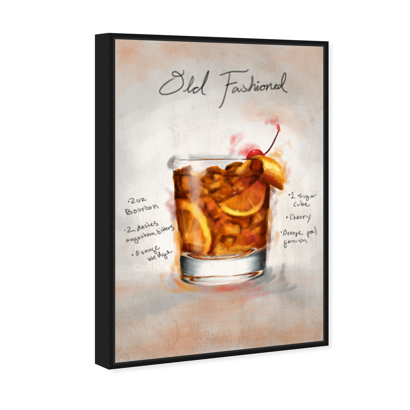 Angled view of Old Fashioned featuring drinks and spirits and cocktails art.