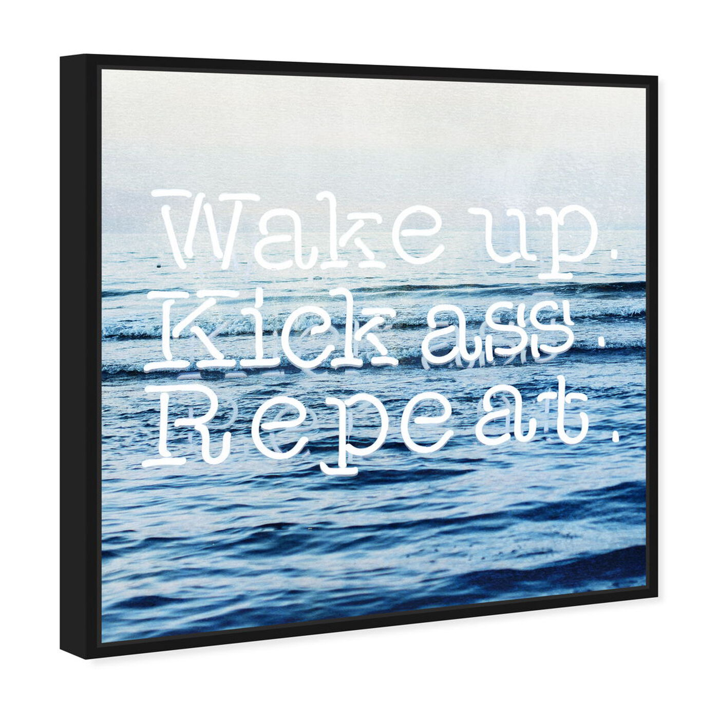 Angled view of Kick A featuring typography and quotes and motivational quotes and sayings art.