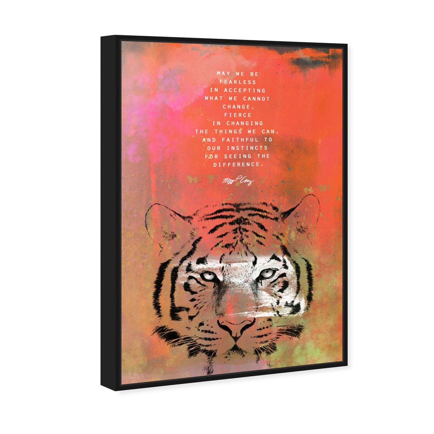 Angled view of Maggie P Chang - Tiger featuring typography and quotes and motivational quotes and sayings art.
