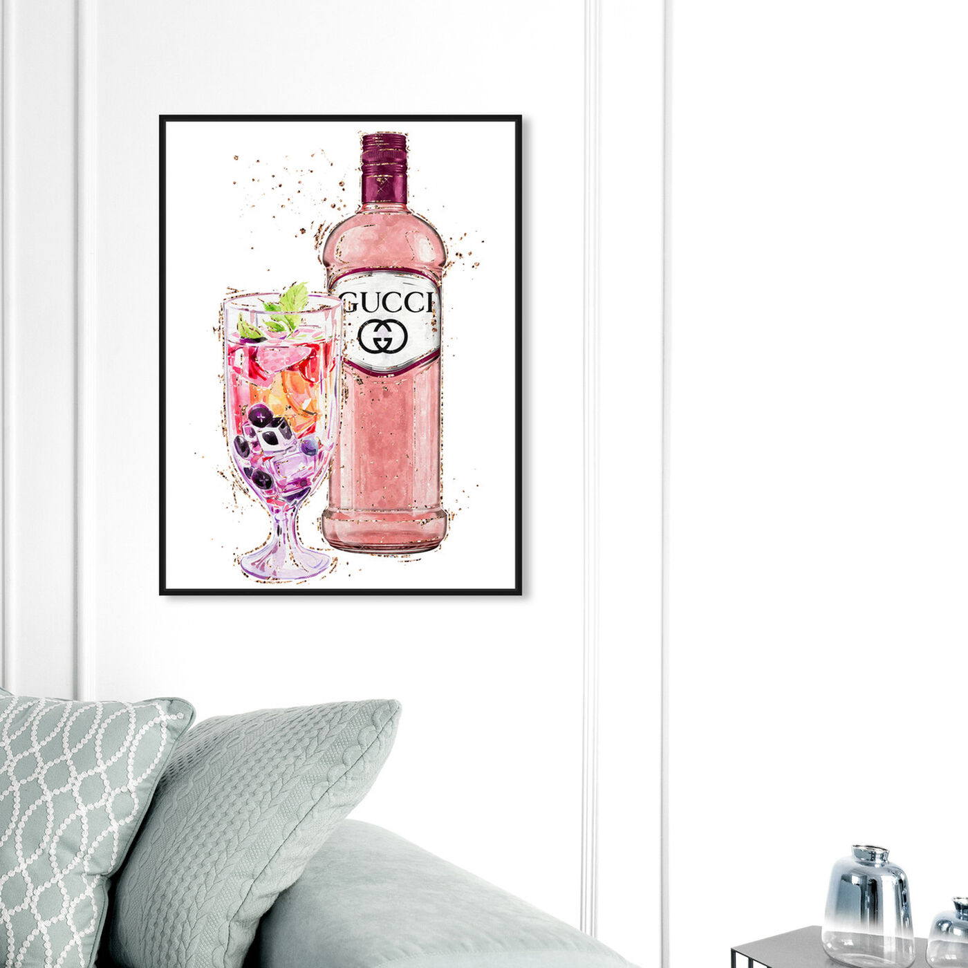 Hanging view of Italian Spritz featuring drinks and spirits and cocktails art.