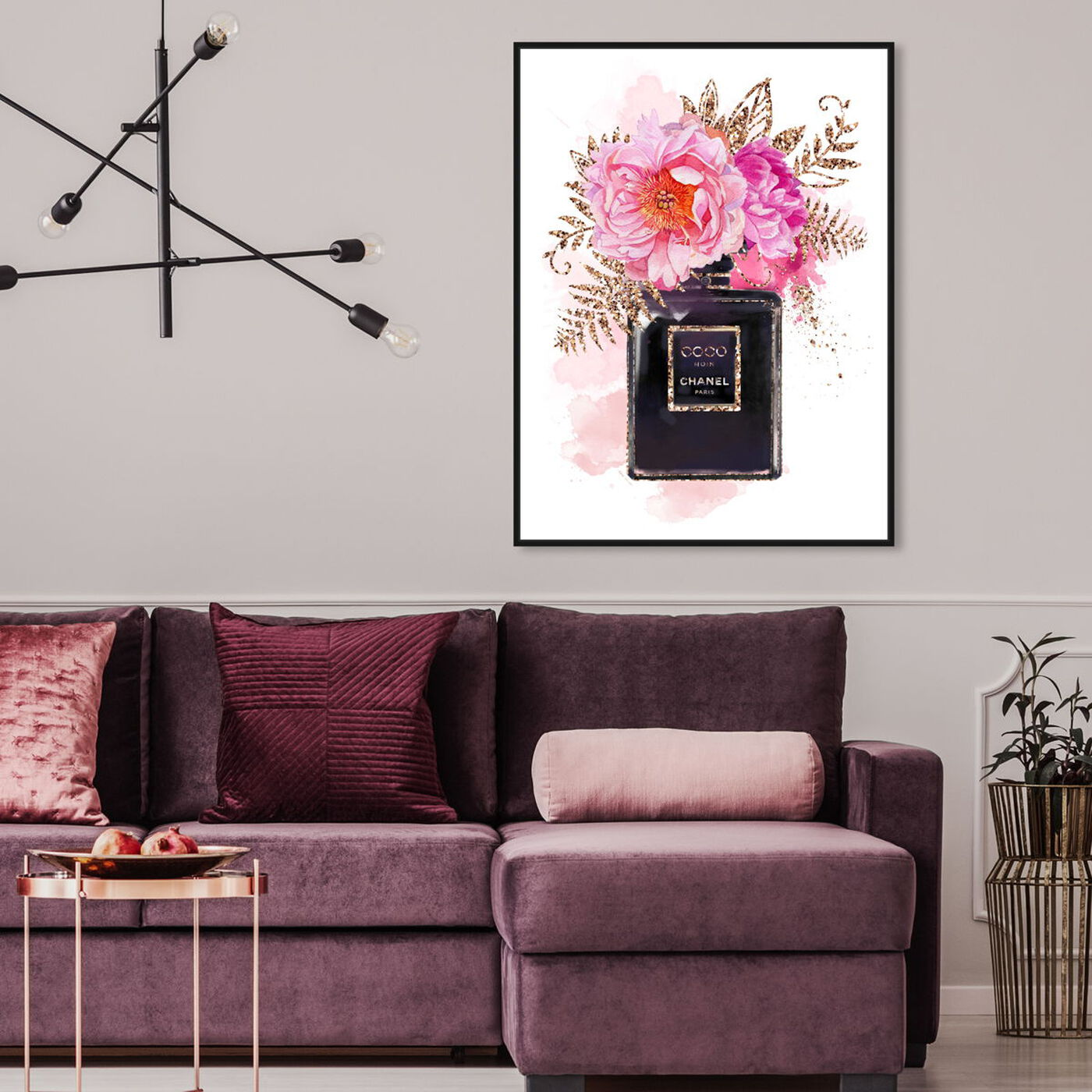 Hanging view of Bottled Floral Scent featuring fashion and glam and perfumes art.