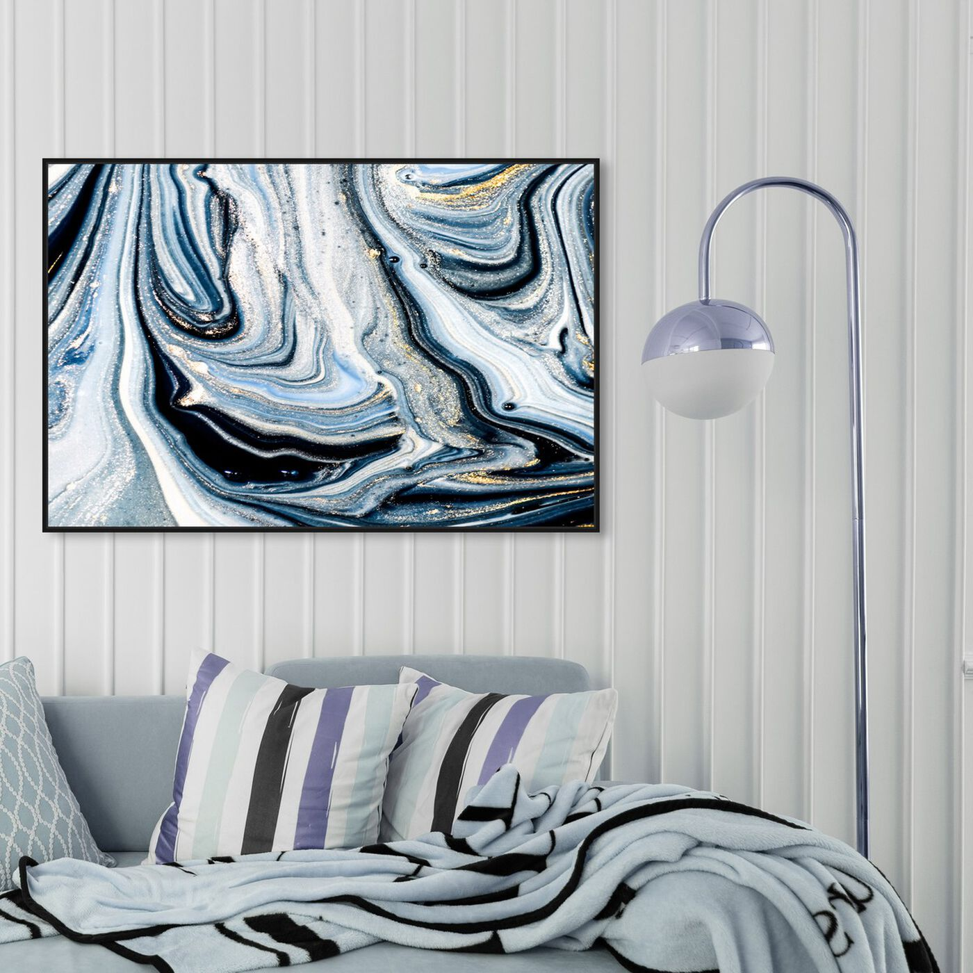 Hanging view of Braco Blues Energy featuring abstract and paint art.