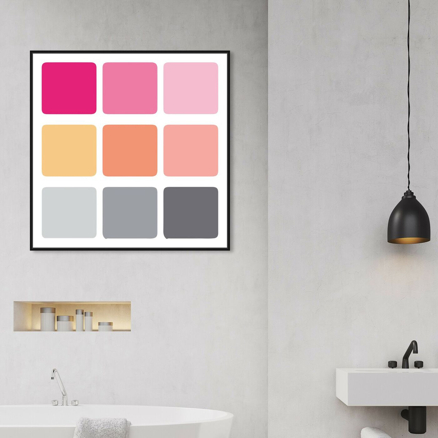 Hanging view of Not Cubic One featuring abstract and geometric art.