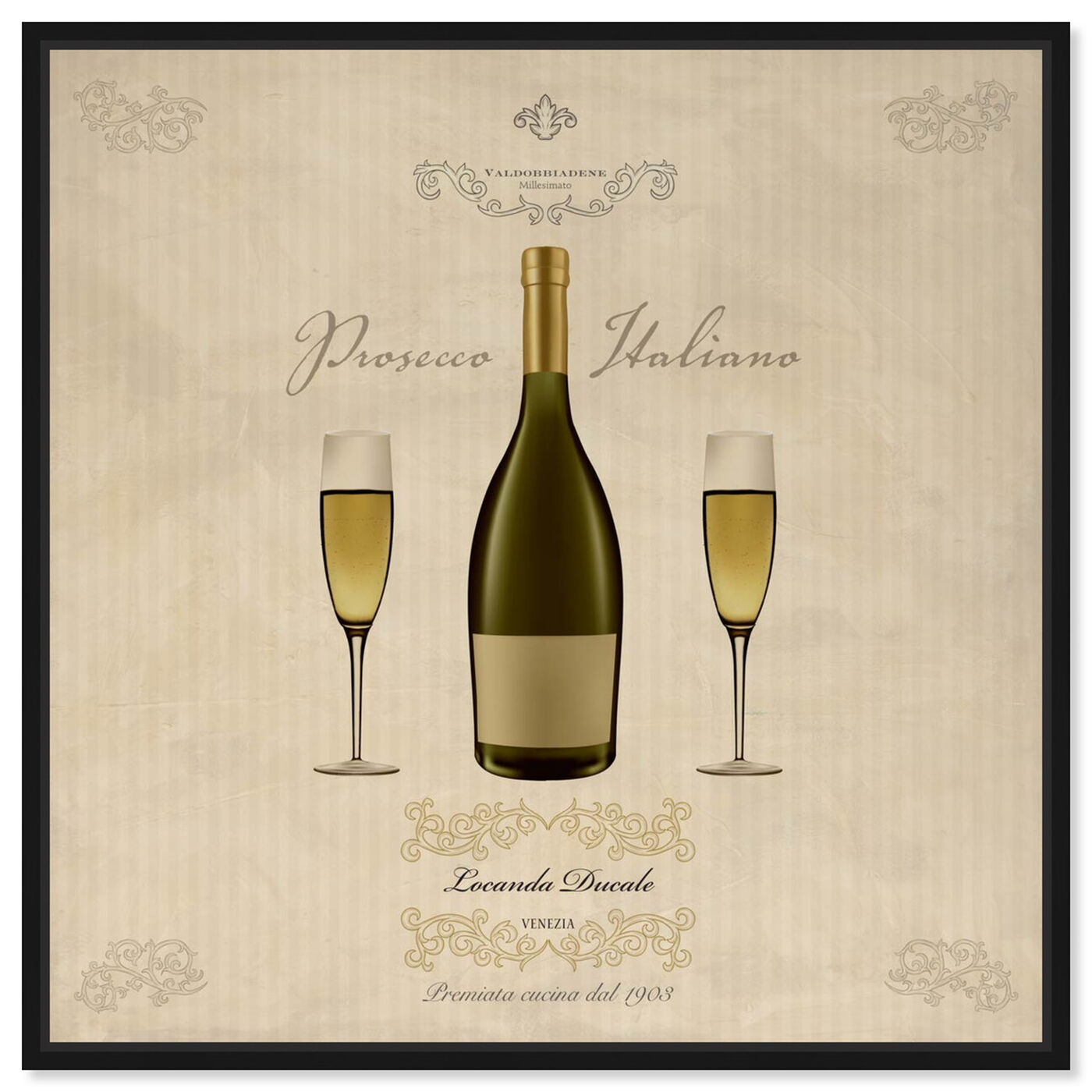 Front view of Sai - Prosecco Italiano 1SF1383 featuring drinks and spirits and wine art.